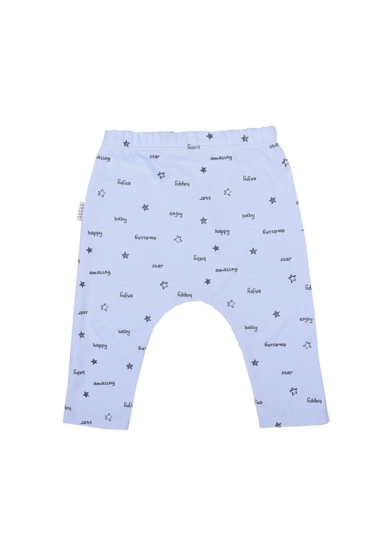 KitiKate Organik Sweat Baby Tek Alt 80780 Mavi