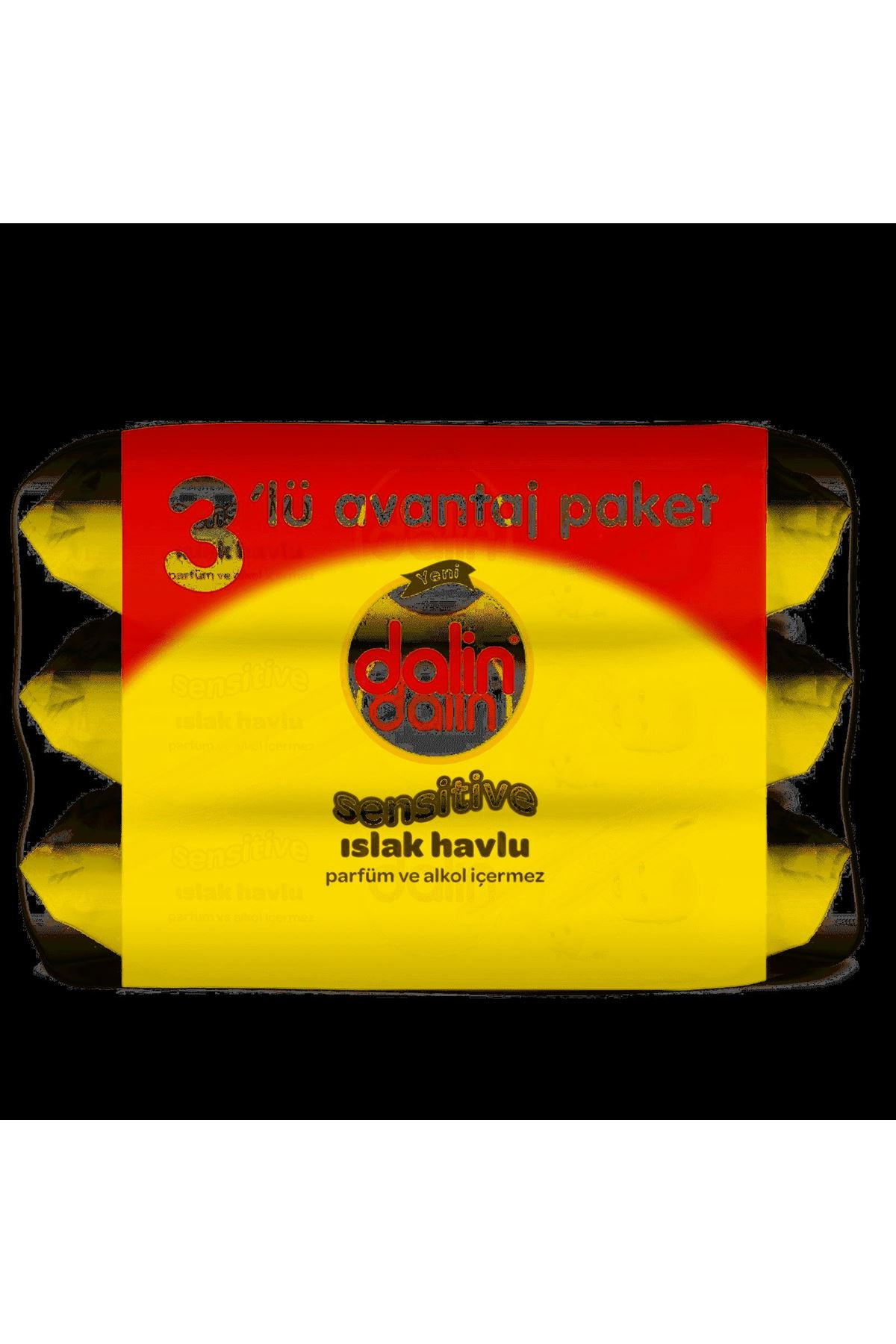 Dalin Sensitive Islak Havlu Mendil 3 lü 3x52 156 Adet