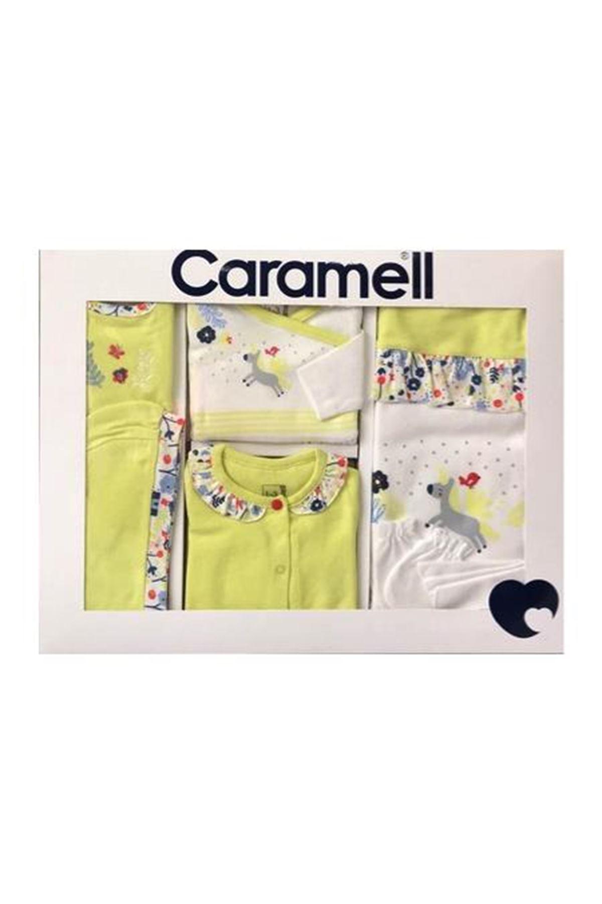 Caramell 10 Parça Zıbın Seti Hastane Çıkışı 5852 Sarı