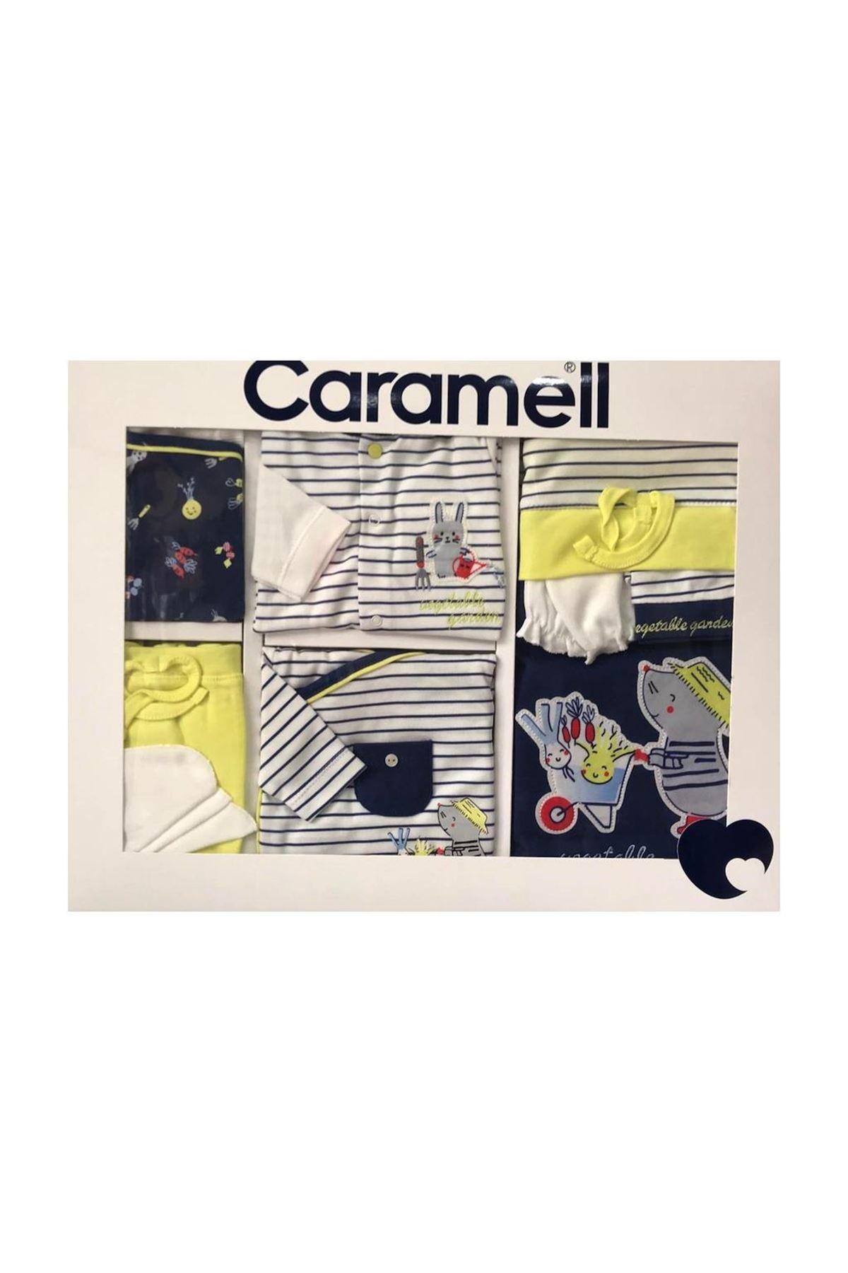 Caramell 10 Parça Zıbın Seti Hastane Çıkışı 5868 İndigo