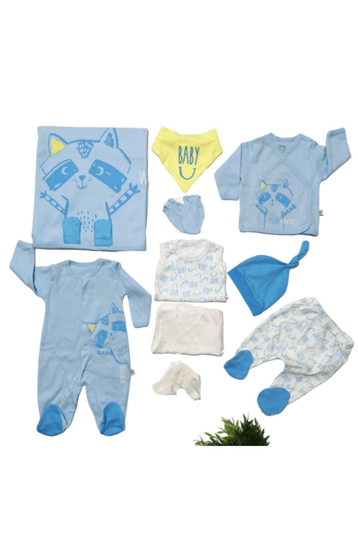 İmaj 10 Parça Zıbın Seti Hastane Çıkışı 038 Mavi