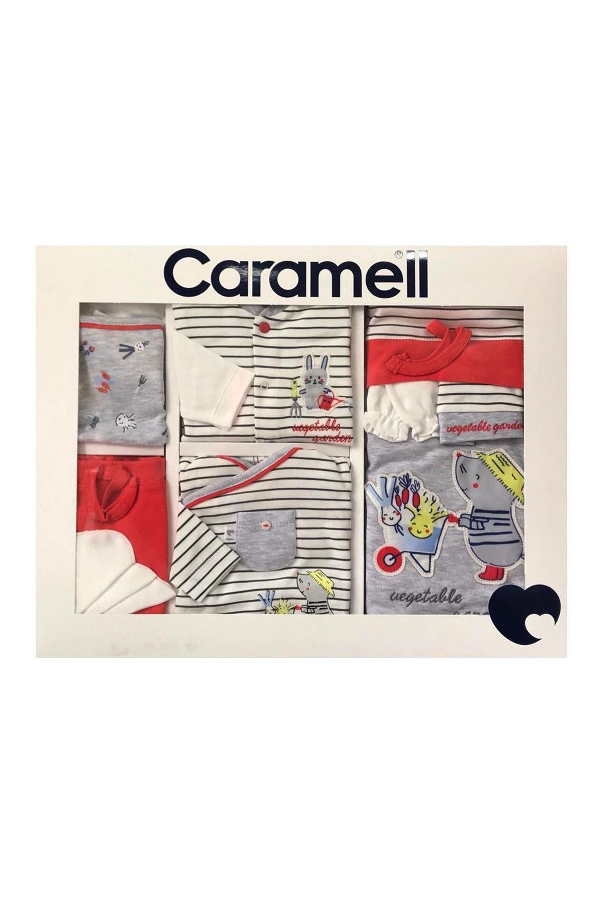Caramell 10 Parça Zıbın Seti Hastane Çıkışı 5868 Gri