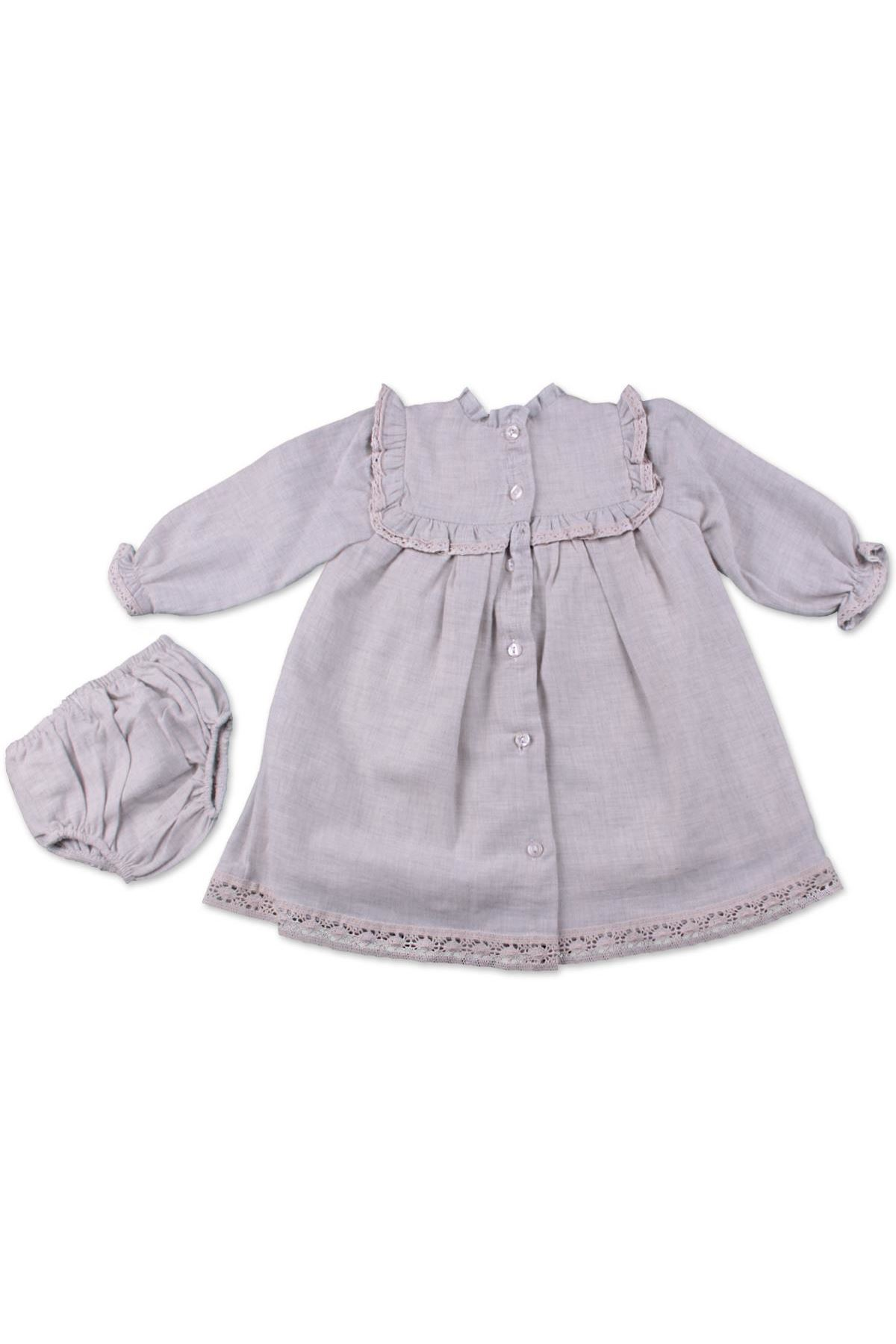 Babydola Elbise Set 40078 Gri