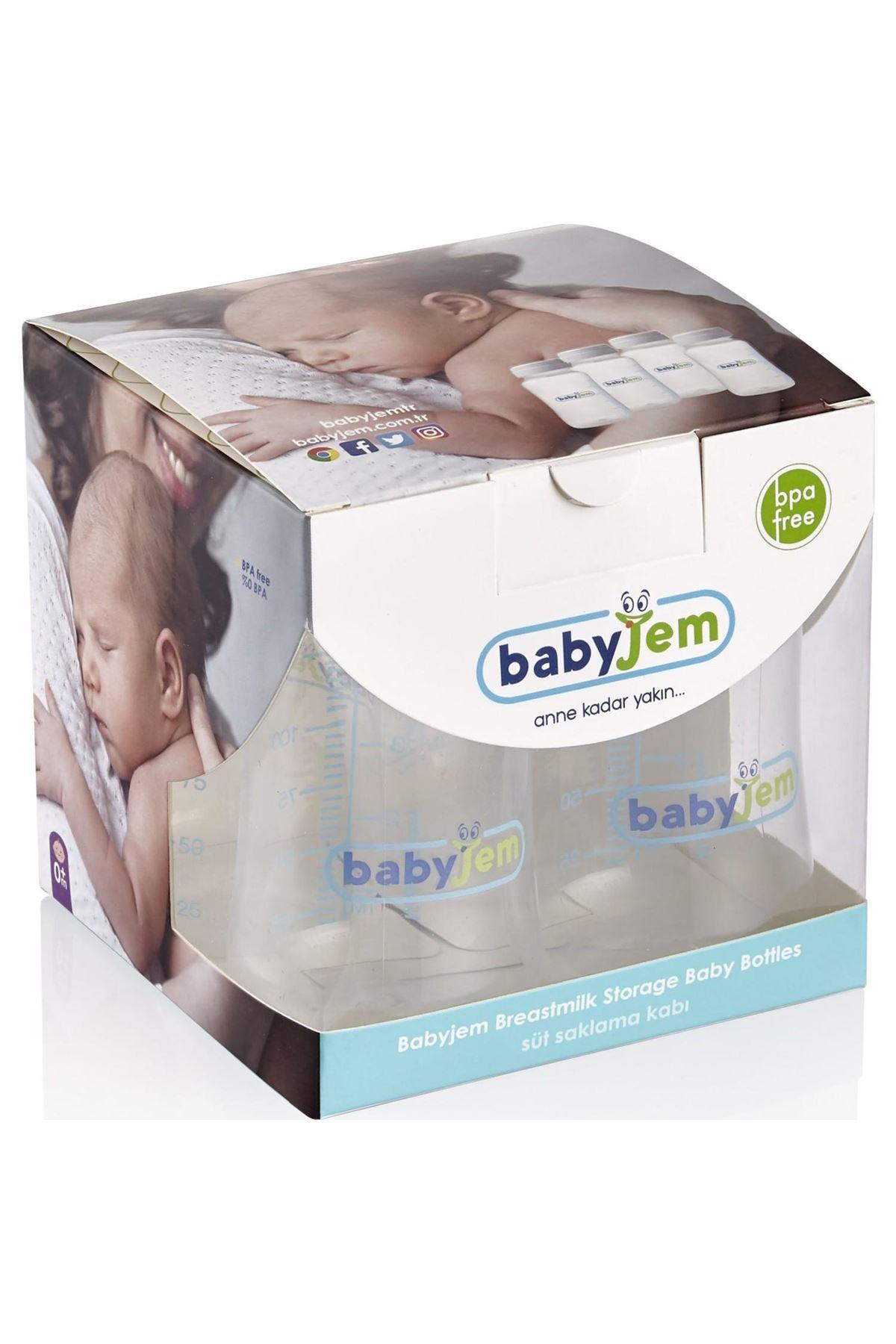 BabyJem 4lü Süt ve Mama Saklama Kabı 619