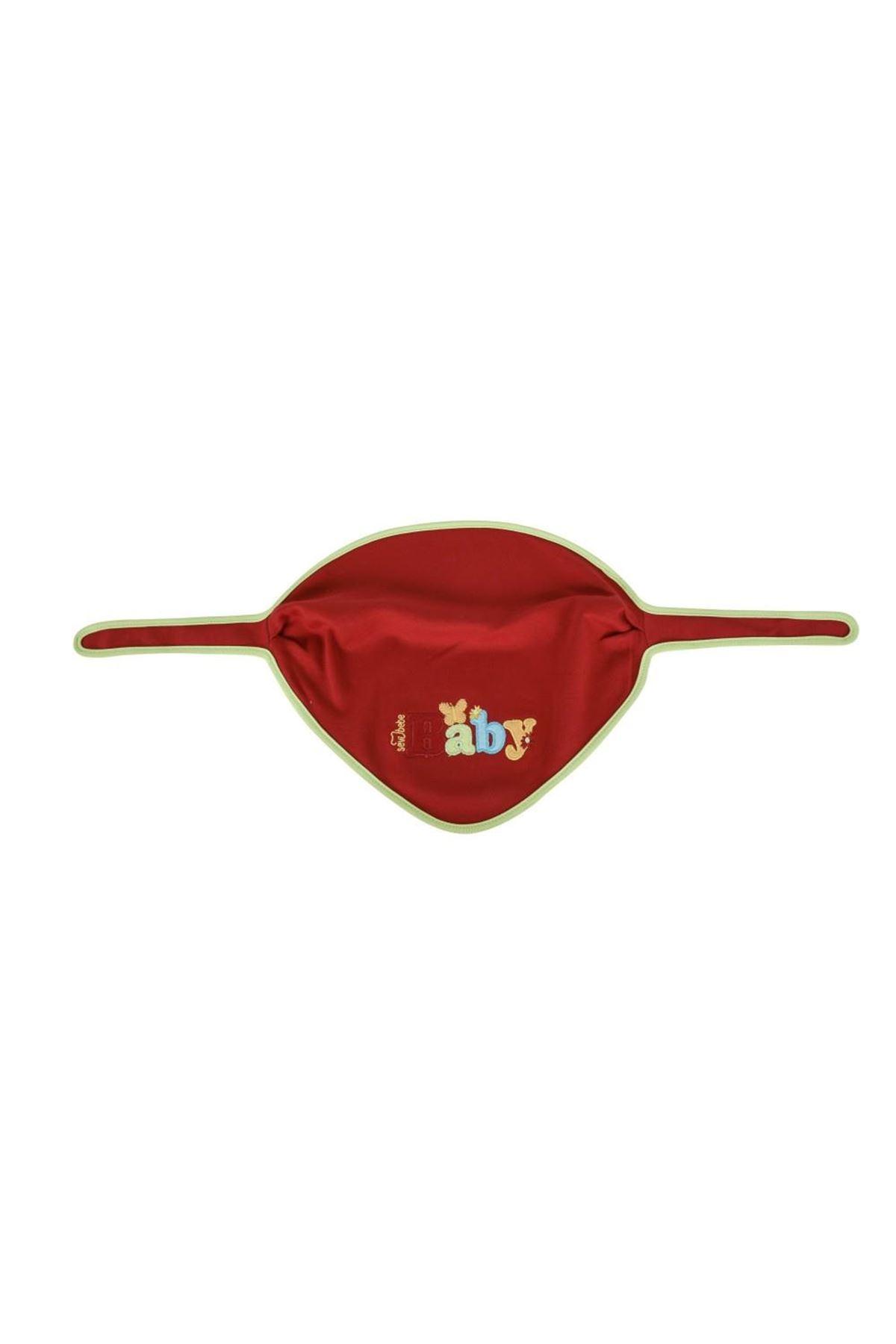 Sevi Bebe Lüks Fular Önlük ART-14 Kırmızı