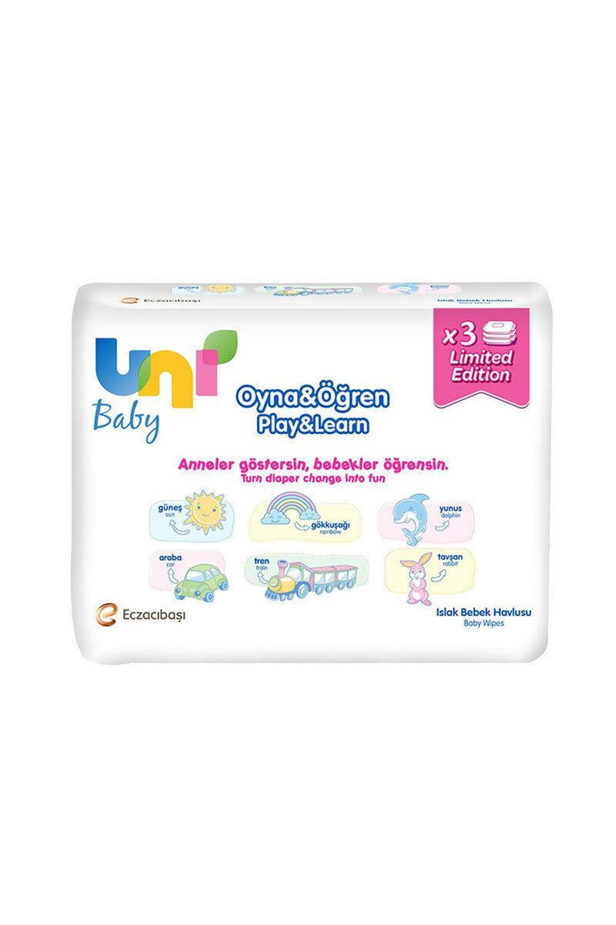 Uni Baby Oyna & Öğren Islak Havlu Mendil 3x52