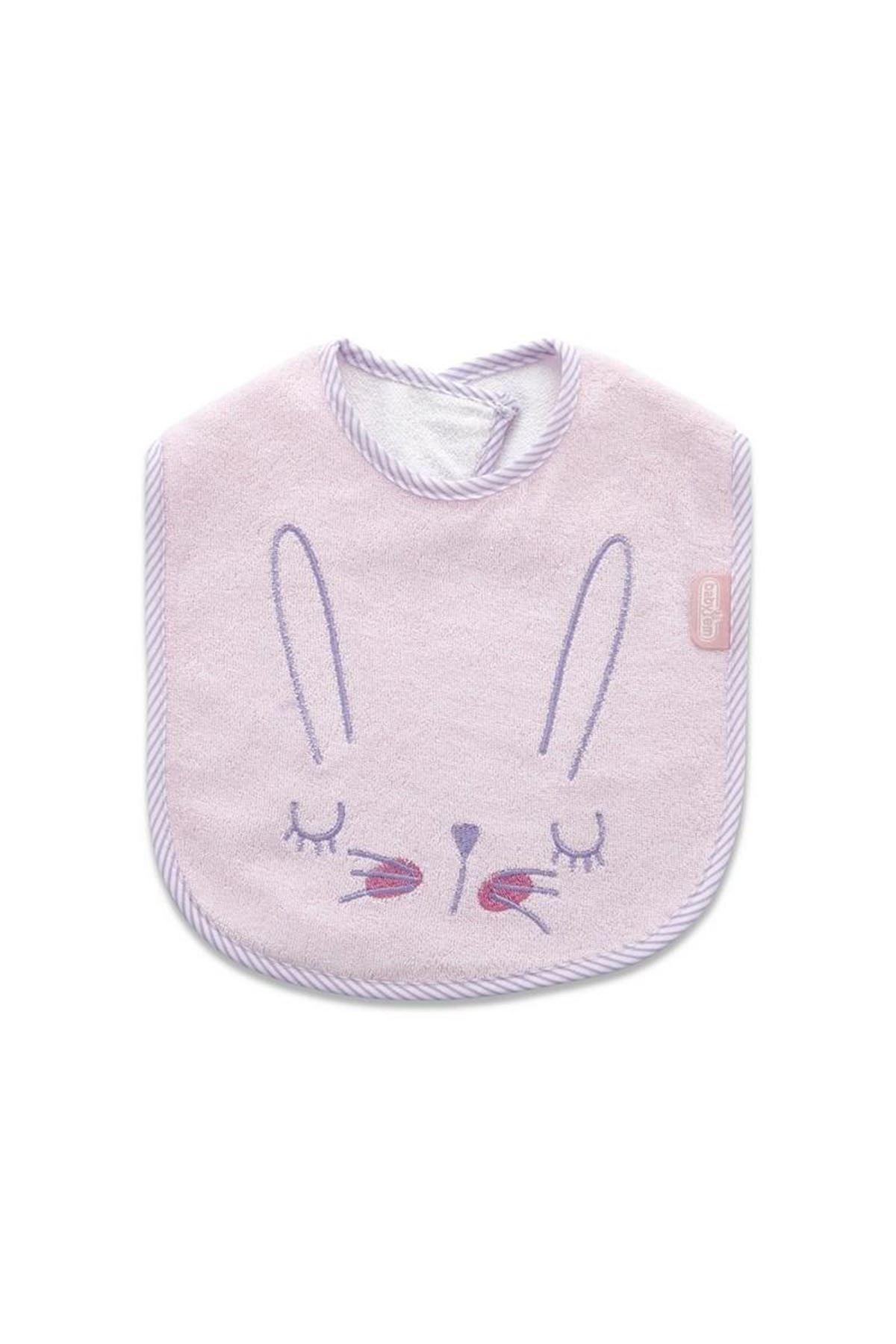 BabyJem Havlu Önlük Sevimli Hayvanlar 629 Pembe Tavşan