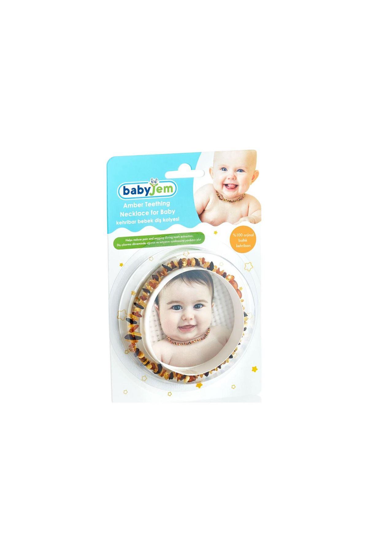 BabyJem Kehribar Bebek Kolyesi 587 Karışık Renkli