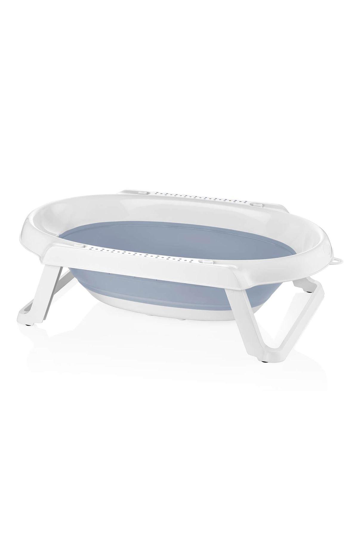 BabyJem Katlanabilen Bebek Banyo Küveti 599 Mavi
