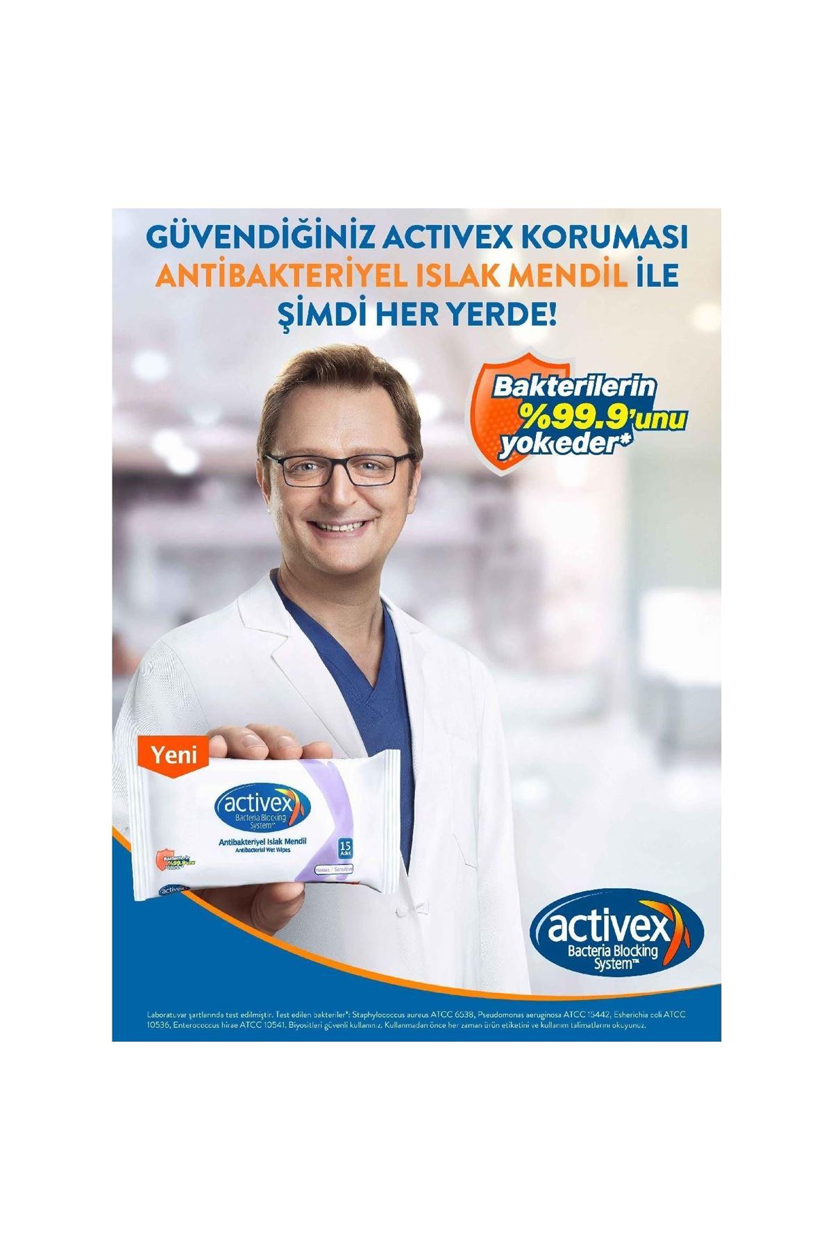 Activex Antibakteriyel Islak Mendil 56lı