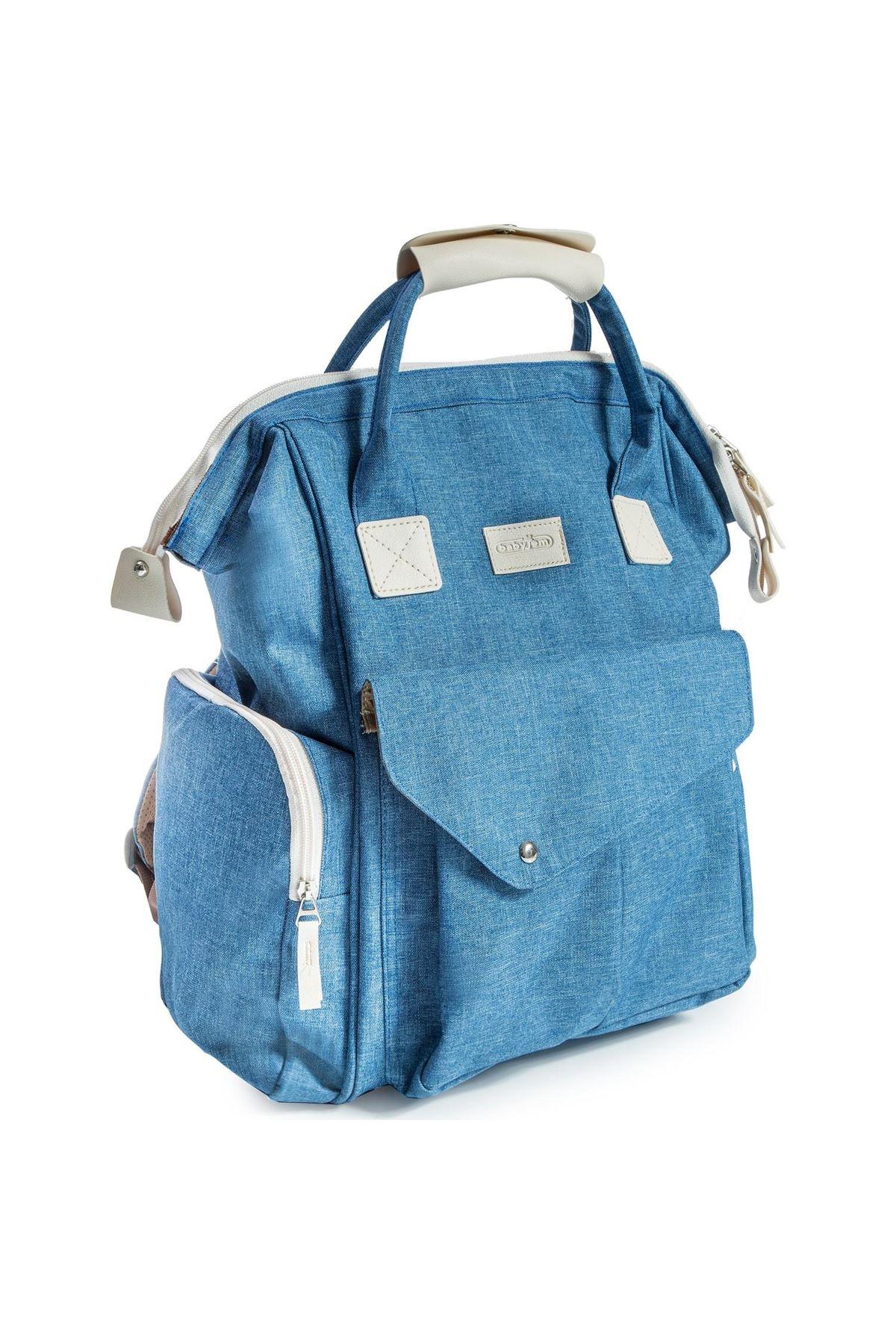BabyJem Çok Fonksiyonlu Bebek Bakım Çantası 568 Açık Mavi