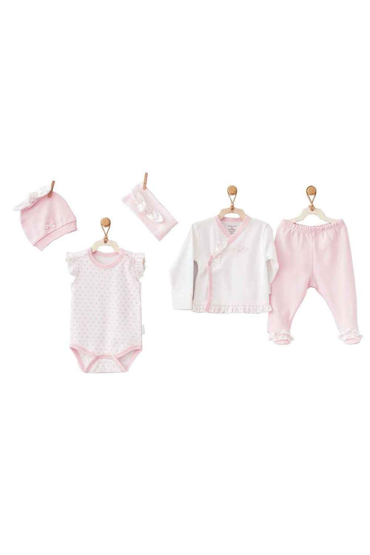 Andywawa AC9590 Small Beautiful 5 Parça Zıbın Seti Hastane Çıkışı Pink