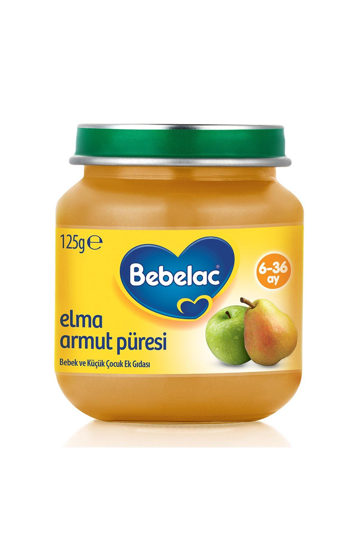 Bebelac Elma Armut Püresi Kavanoz Maması 125 Gr