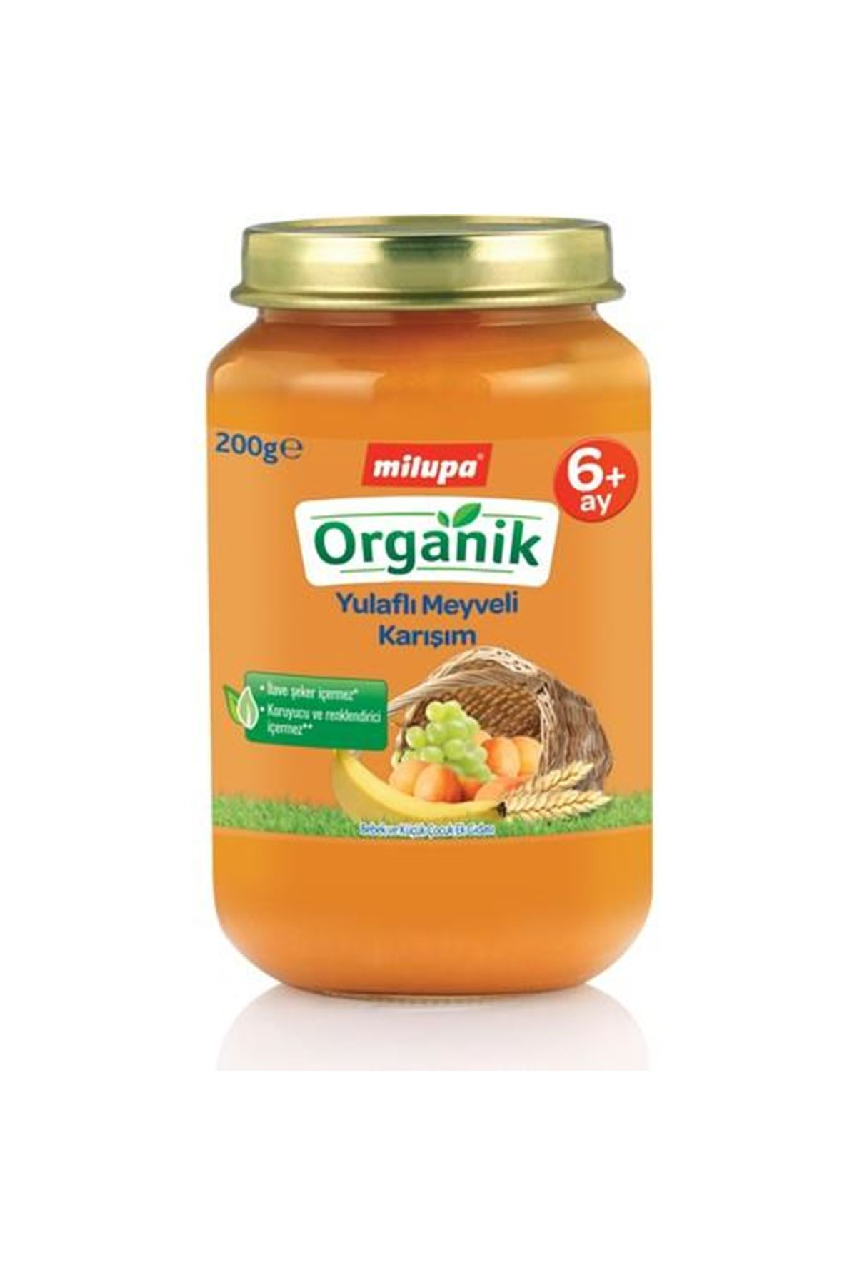 Milupa Organik Yulaflı Meyveli Karışım Kavanoz Maması 200 Gr