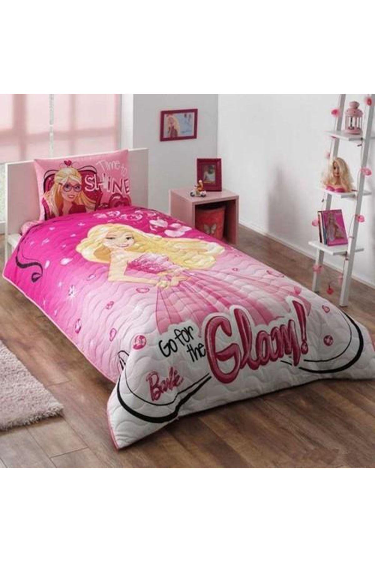 Taç Lisanslı Complete Set Tek Kişilik Barbie Glam