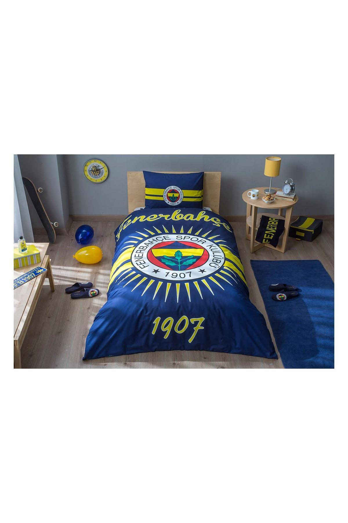 Taç Lisanslı Nevresim Takımı Tek Kişilik Fenerbahçe Parlayan Güneş