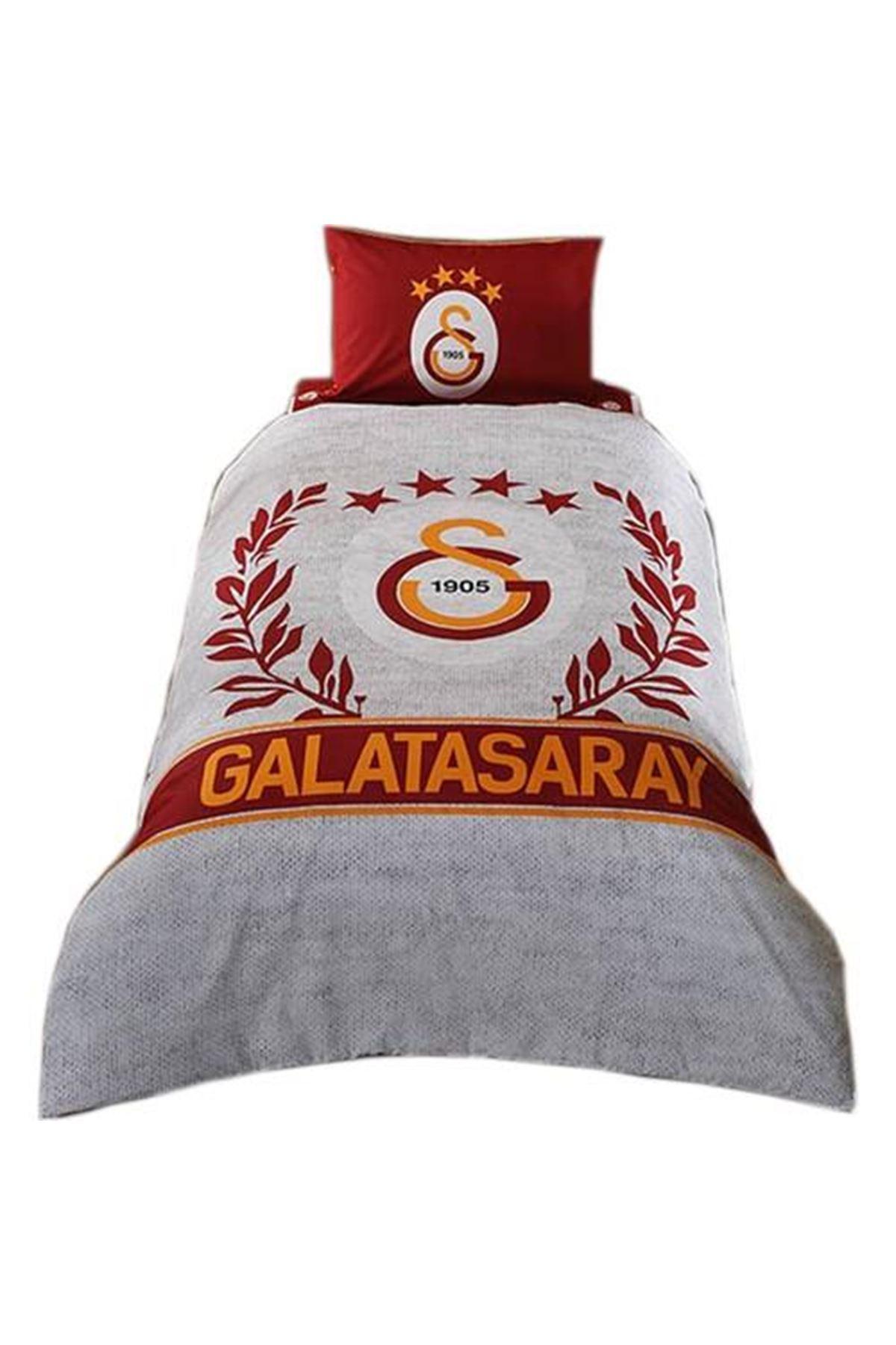 Taç Lisanslı Nevresim Takımı Tek Kişilik Galatasaray Grey