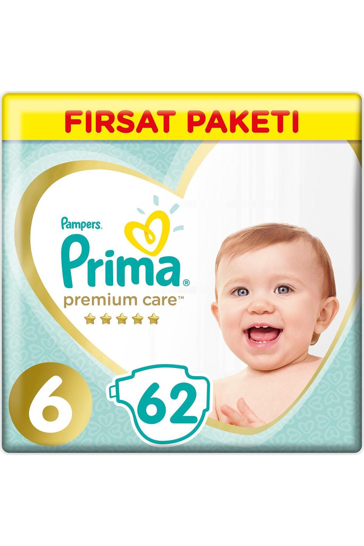 Prima Premium Care Bebek Bezi Fırsat Paketi 6 Beden 62 Adet