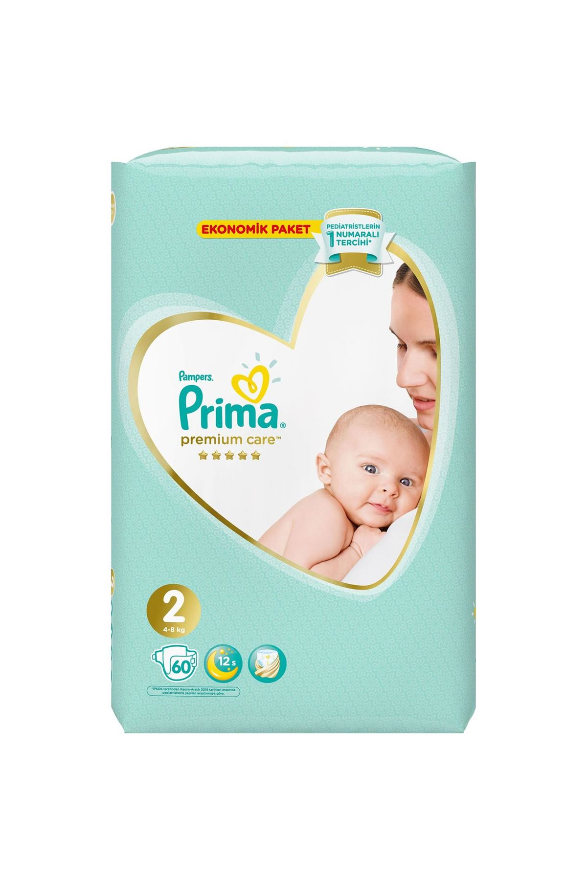 Prima Premium Care Bebek Bezi Ekonomik Paket 2 Beden 60 Adet