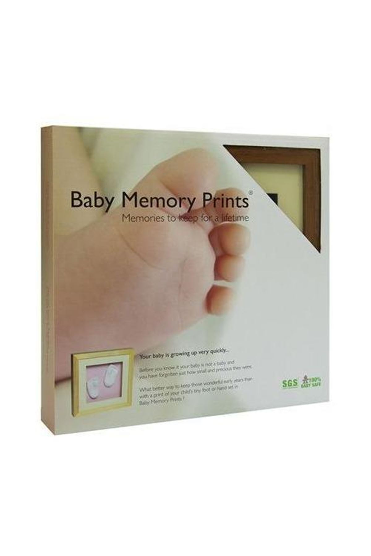 Baby Memory Prints El ve Ayak İzi 3D Çerçeve Naturel