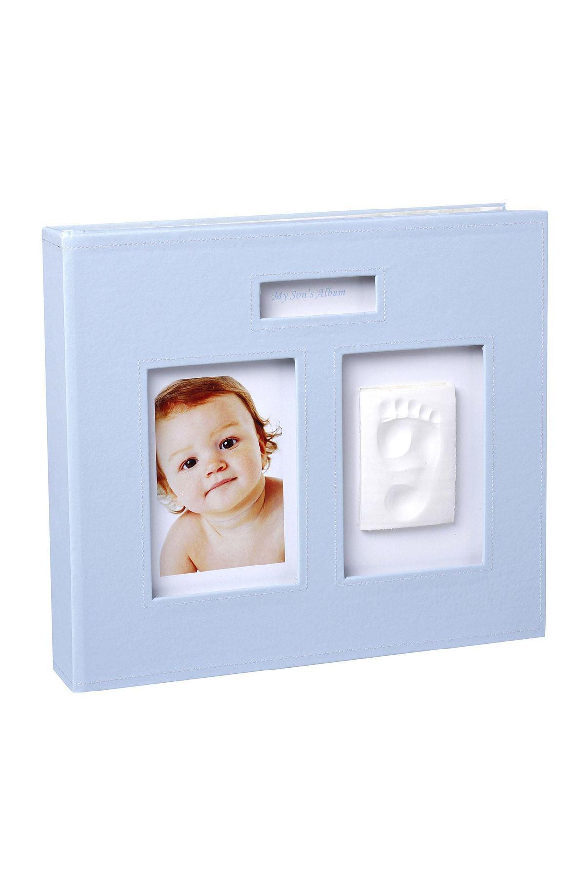 Baby Memory Prints Deri Hatıra Albümü Mavi