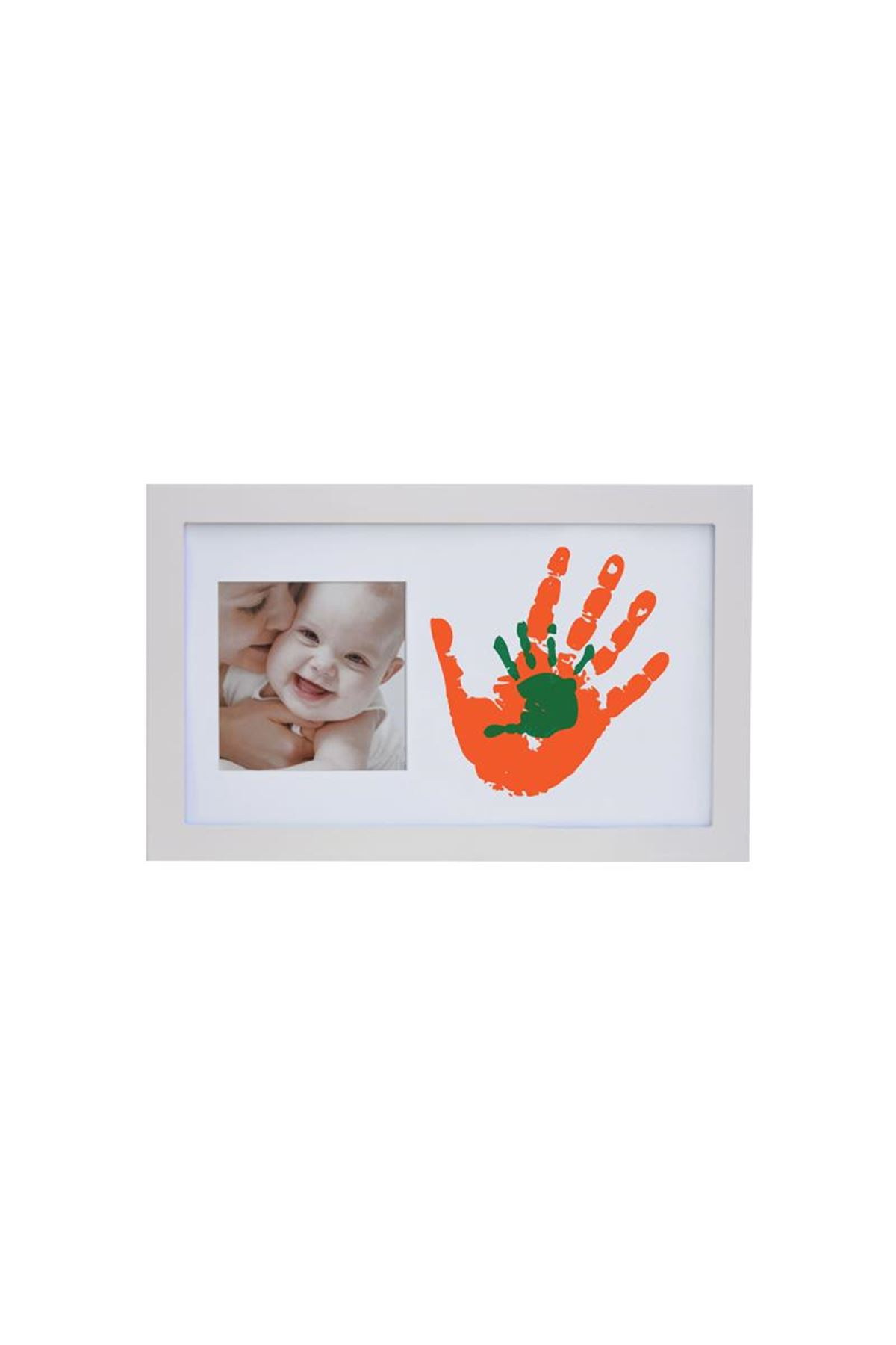 Baby Memory Prints Paint Wall Family Frame Beyaz