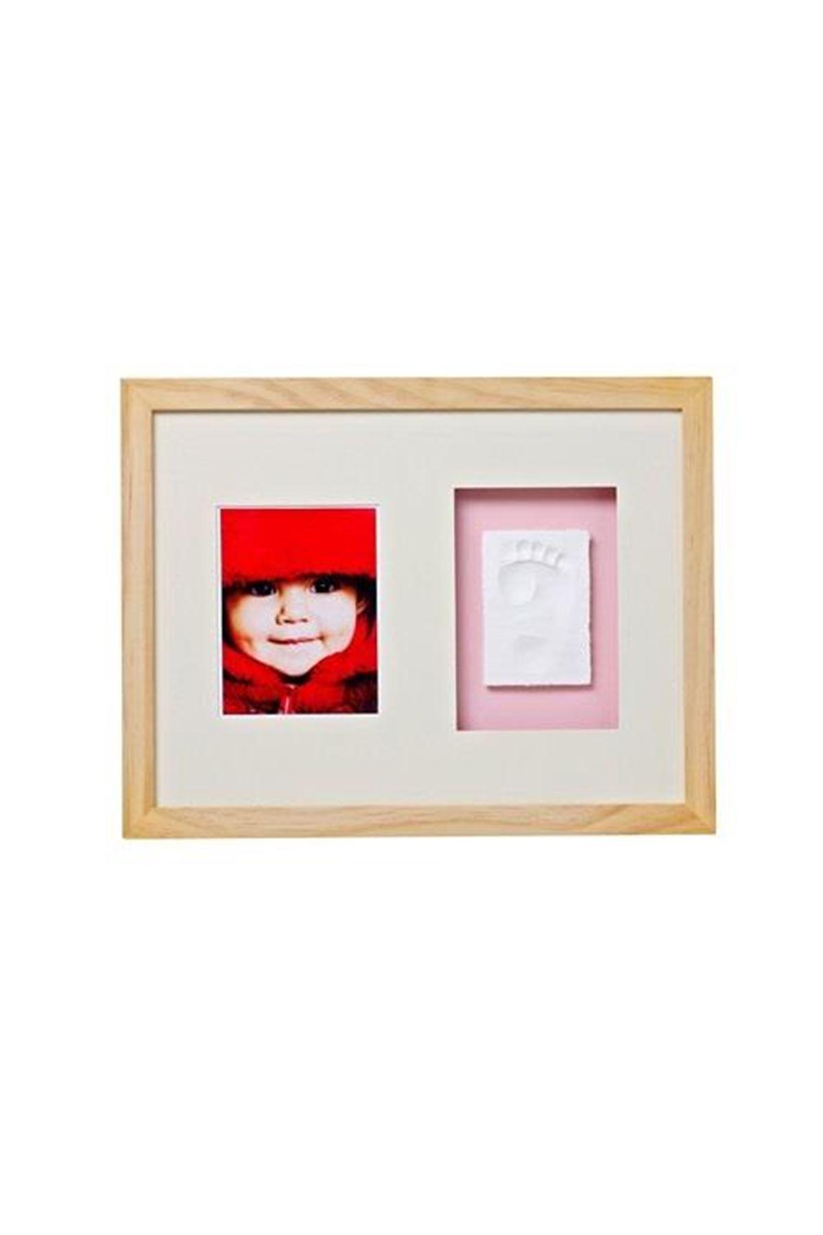 Baby Memory Prints El ve Ayak İzi Duvar Çerçevesi Naturel