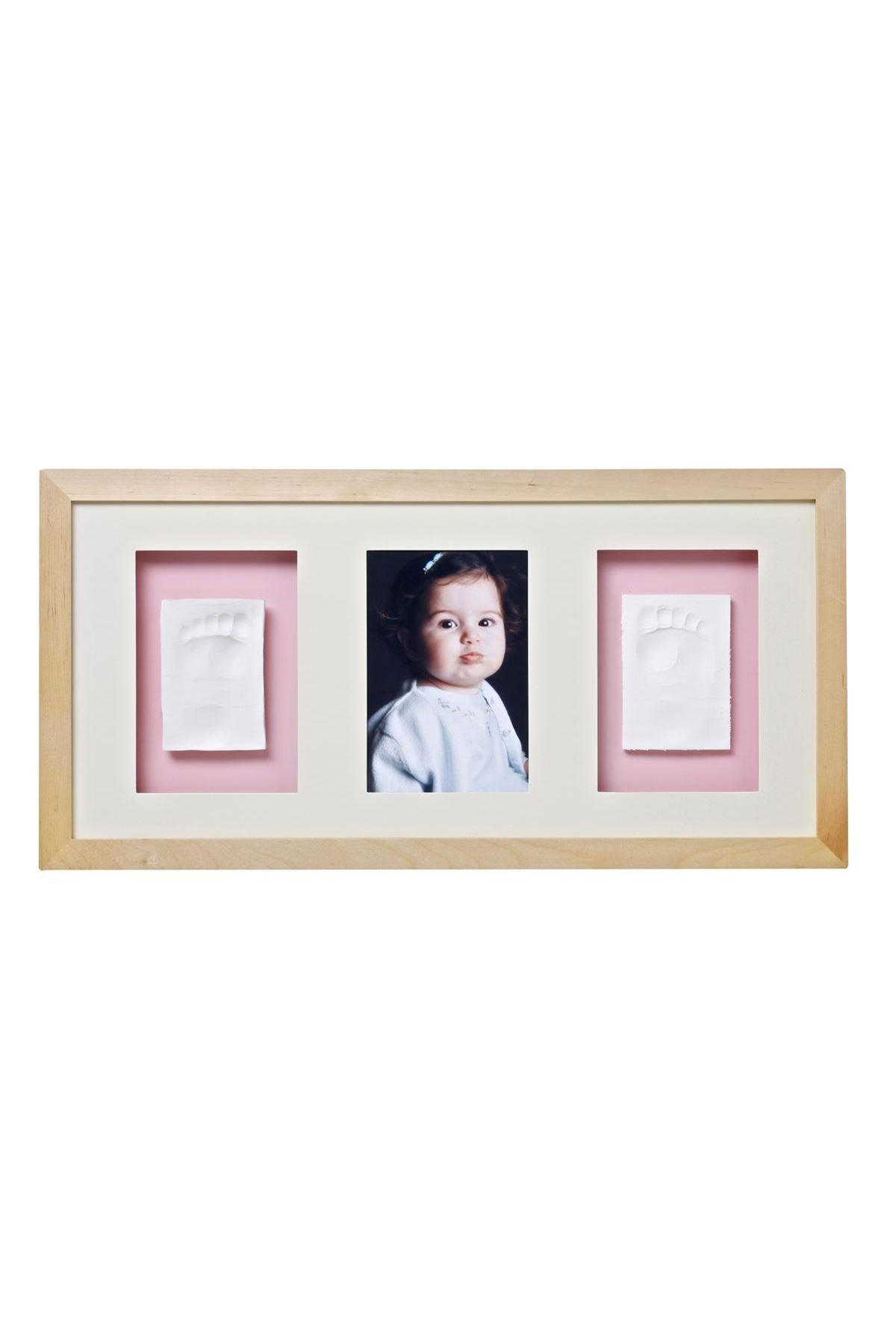 Baby Memory Prints Trio El ve Ayak İzi 3lü Çerçeve Naturel