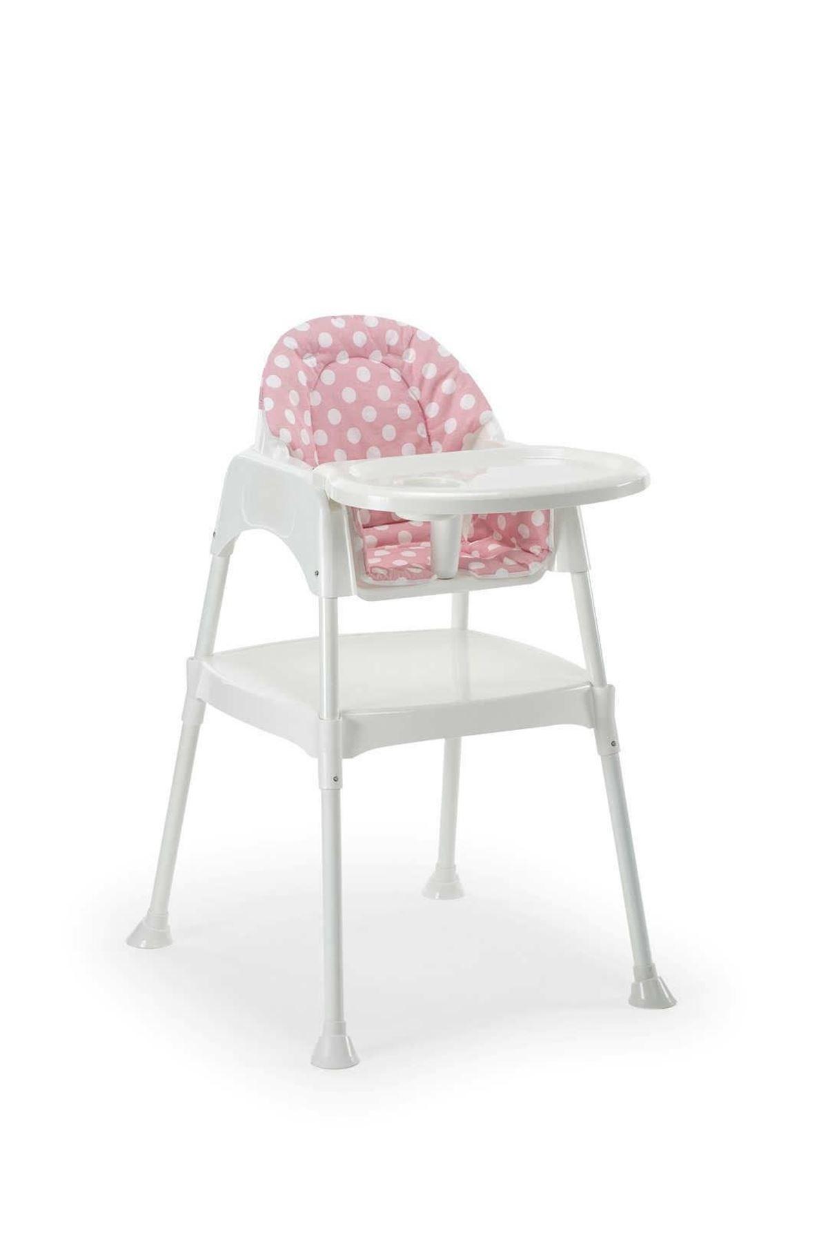Moje Çalışma Masalı Portatif Mama Sandalyesi (Minderli Set) Pembe