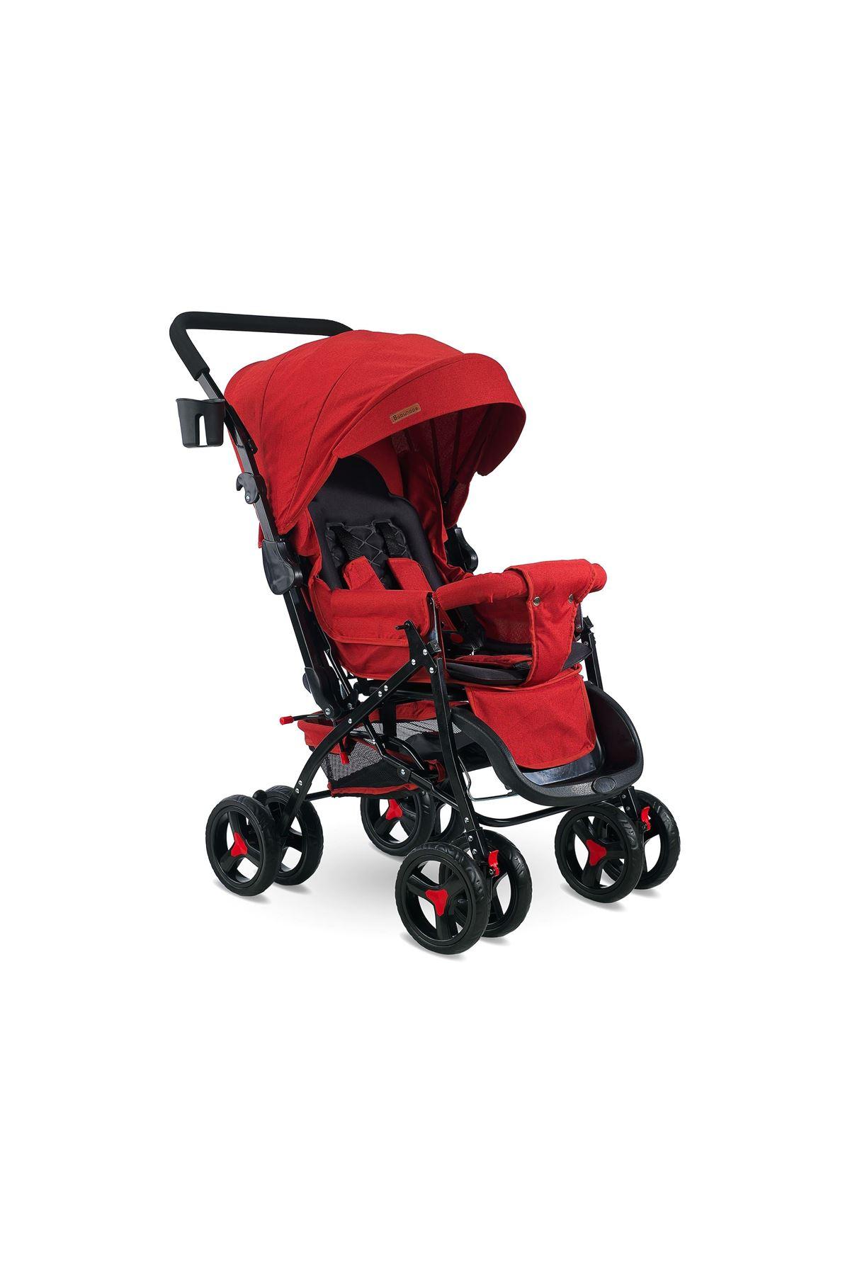 Babyhope 604 Çift Yönlü Bebek Arabası Kırmızı