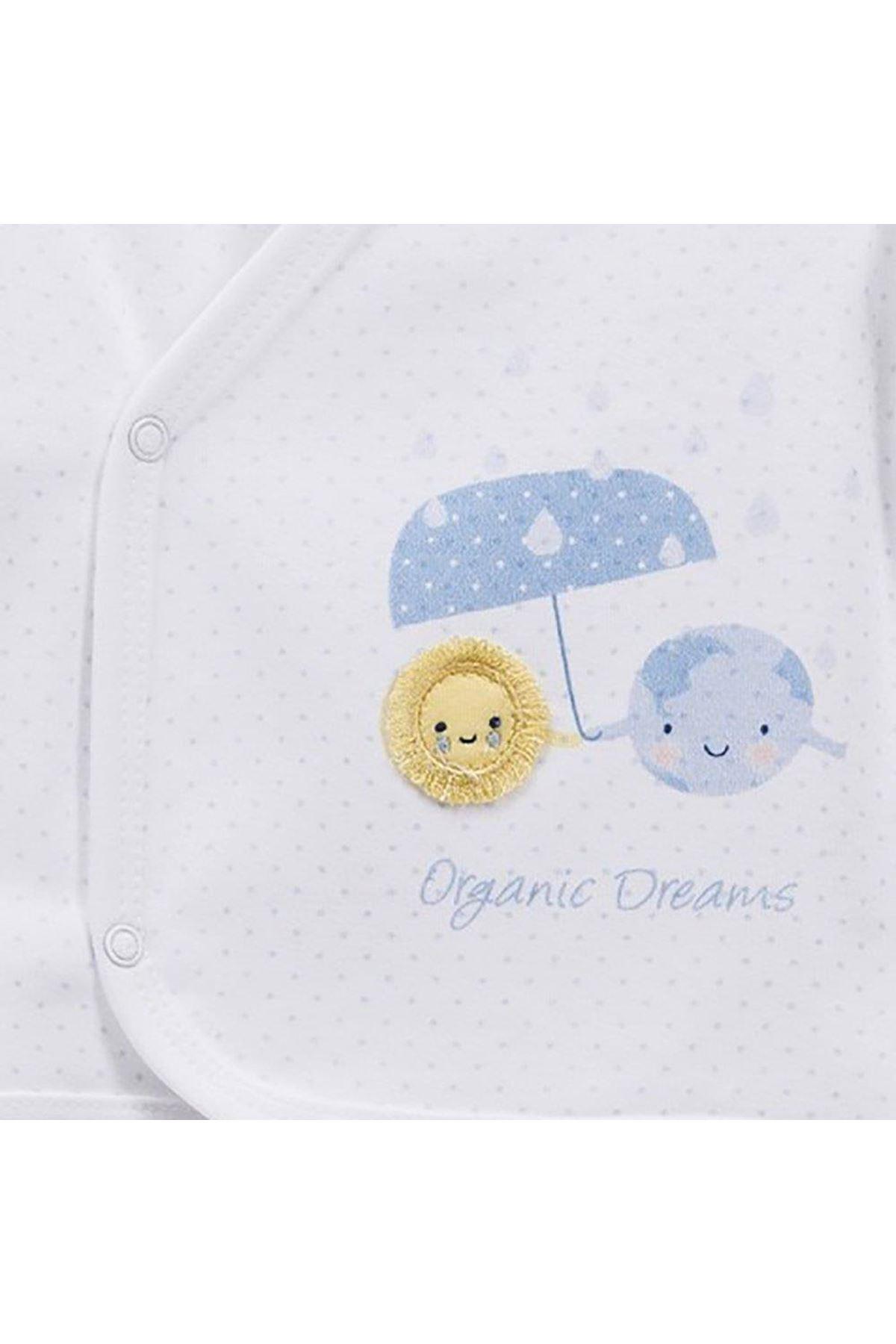 KitiKate Organik Dreams 5 Parça Zıbın Seti Hastane Çıkışı 15942 Mavi
