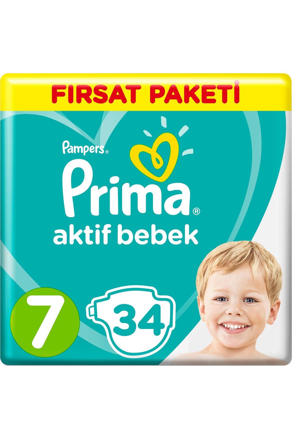 Prima Bebek Bezi Aktif Bebek Fırsat Paketi 7 Beden 34 Adet