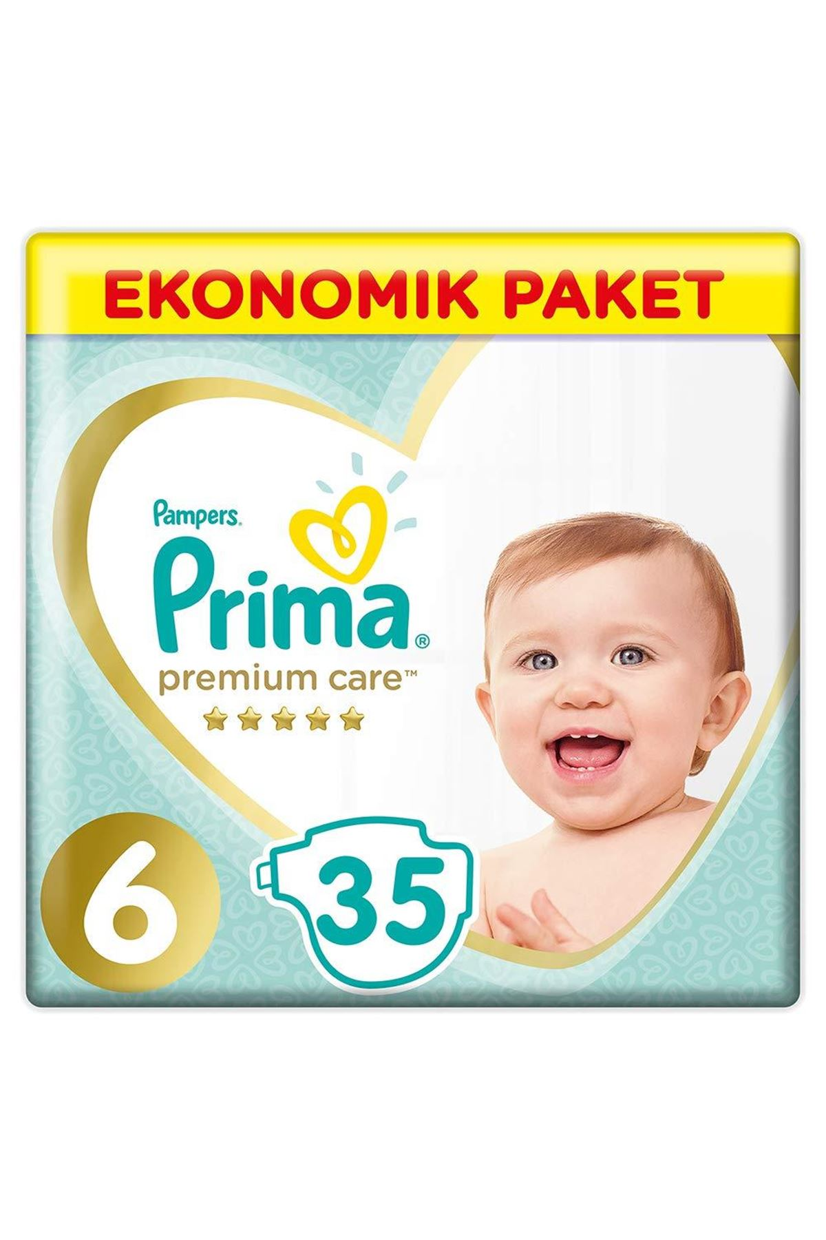 Prima Premium Care Bebek Bezi Ekonomik Paket 6 Beden 35 Adet
