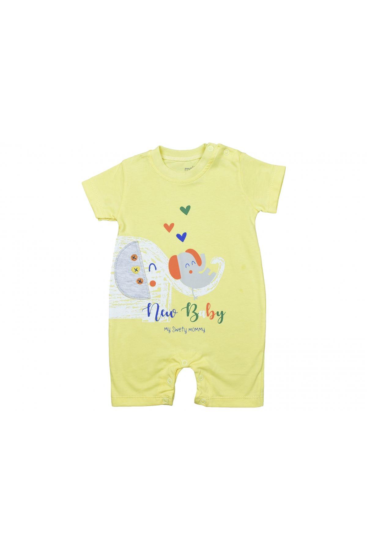 Maibella, New Baby Fil Desenli, Kısa Tulum, Sarı, MAİ14-2004