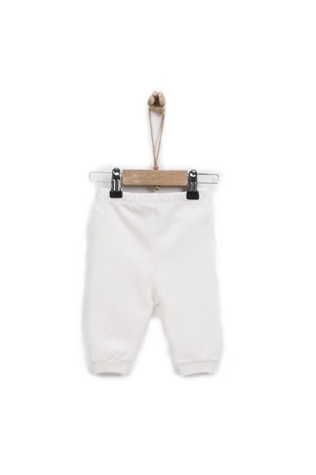 KitiKate Organik Basic Patiksiz Pantolon 77961 Ekru