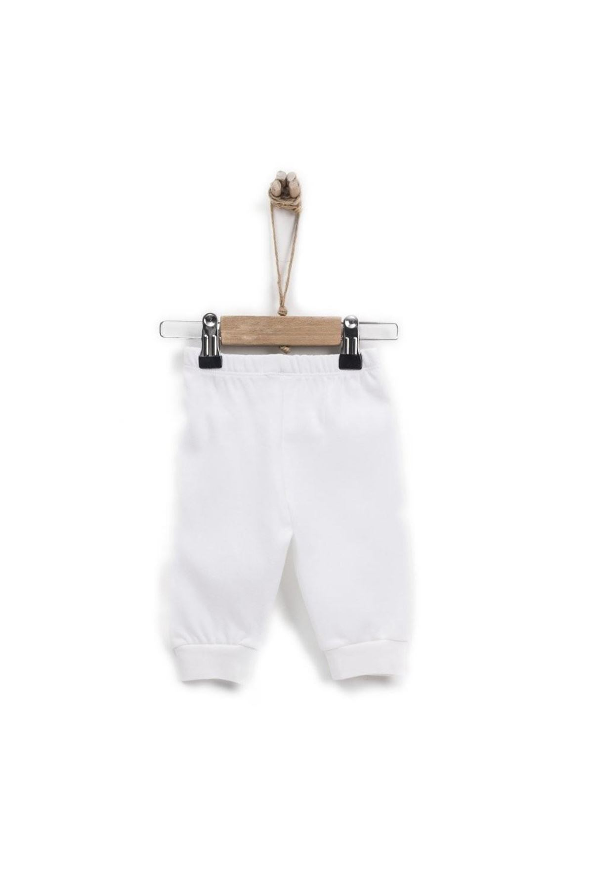 KitiKate Organik Basic Patiksiz Pantolon 77961 Beyaz