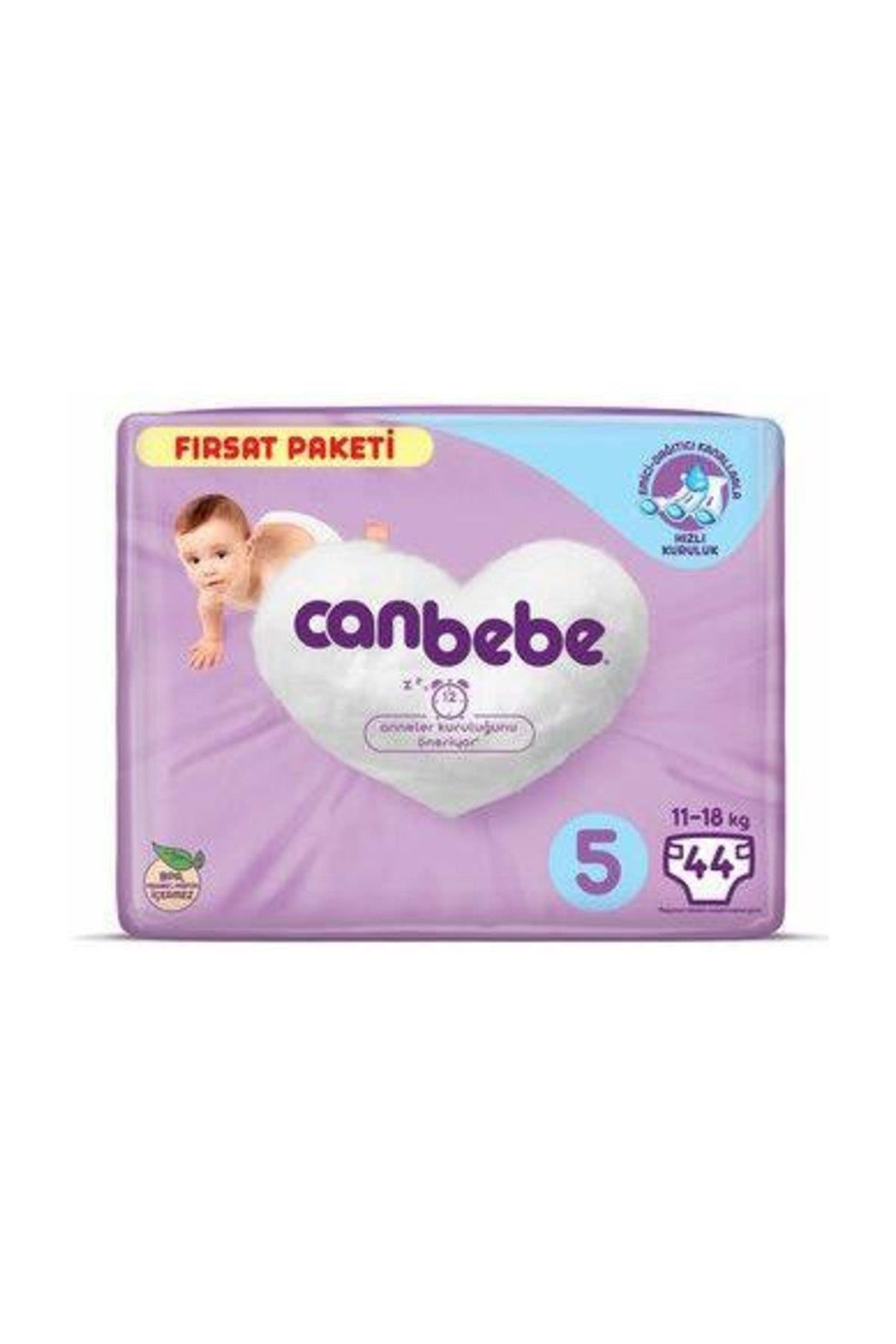 Canbebe Bebek Bezi Fırsat Paketi 5 Beden 11-18 Kg 44 Adet