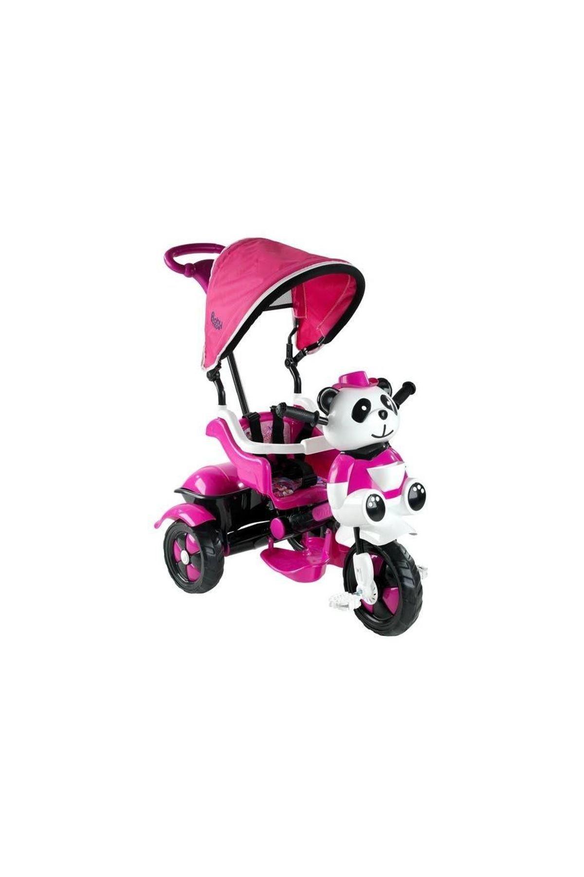 Babyhope 127 Little Panda 3 Tekerli Kontrollü Bisiklet Pembe