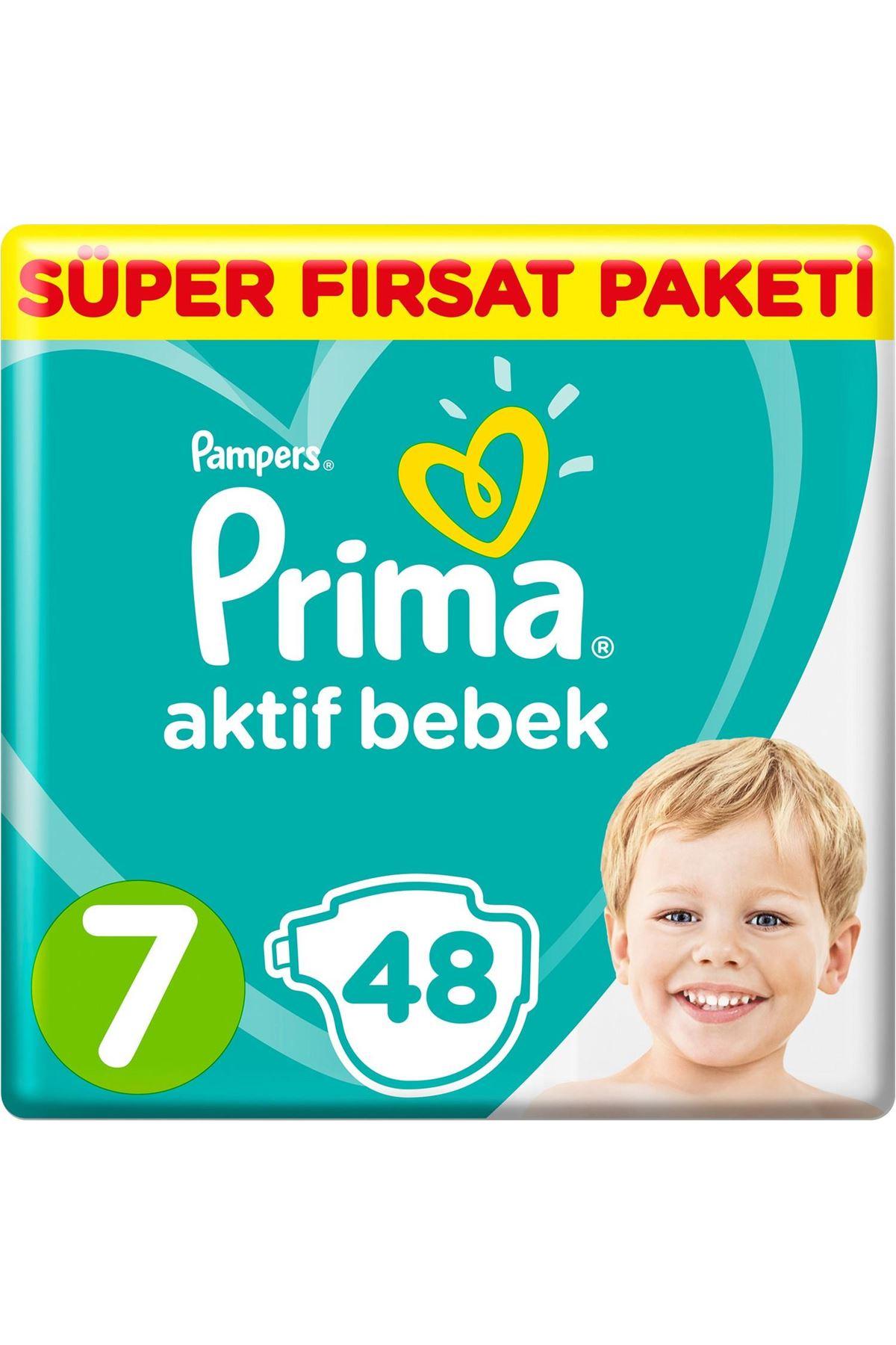 Prima Bebek Bezi Aktif Bebek Mega Fırsat Paketi 7 Beden 48 Adet
