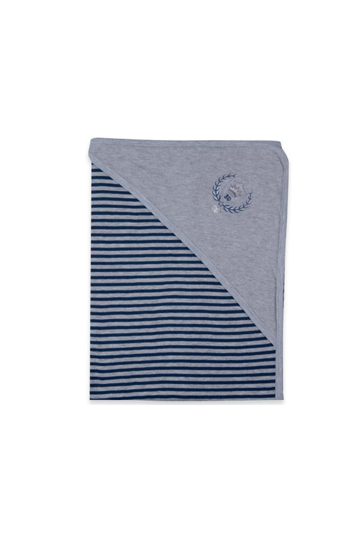 Babydola Penye Battaniye 11597 Grey Navy Blue