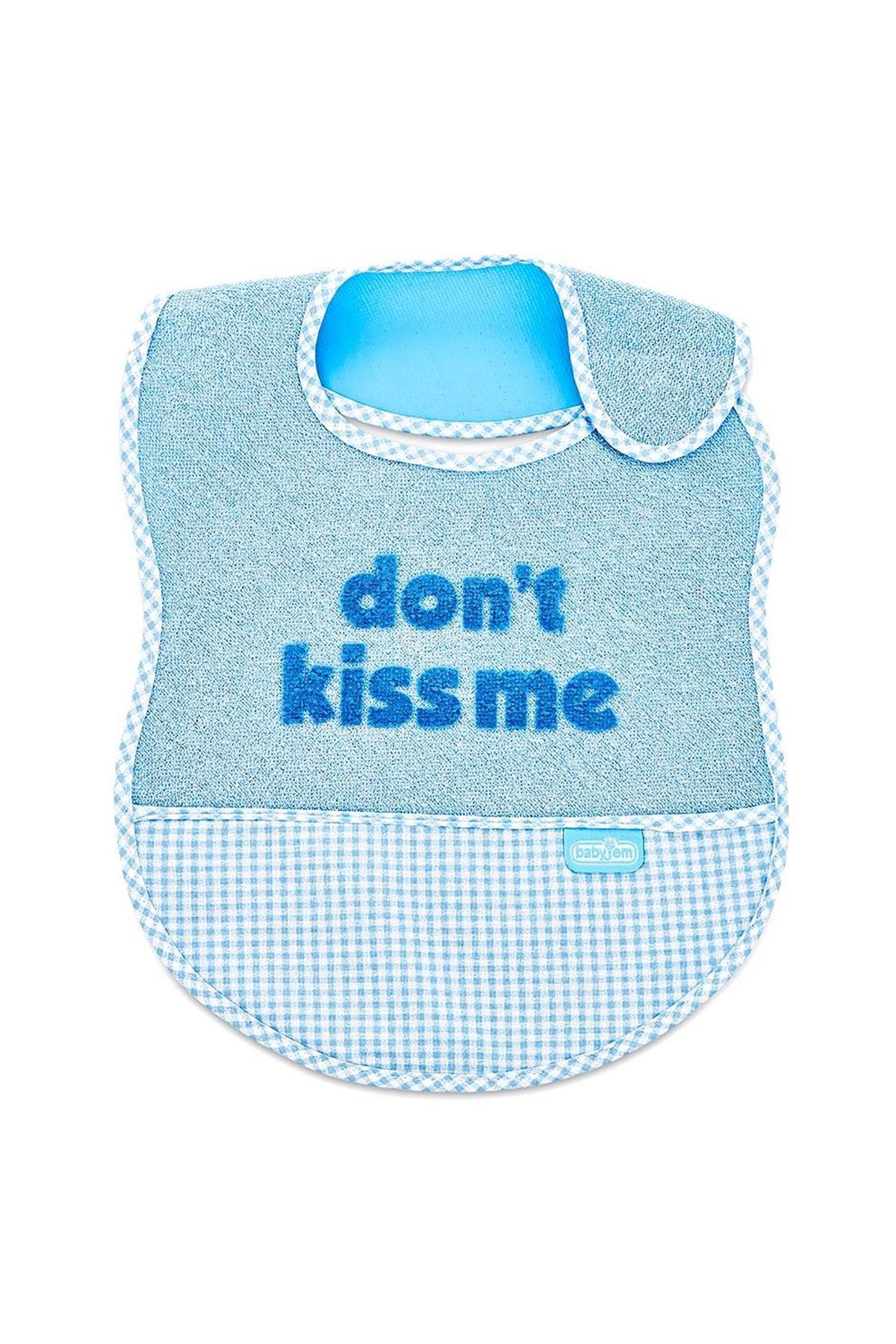 BabyJem Lüks Öpme Beni Mama Önlüğü 032 Mavi