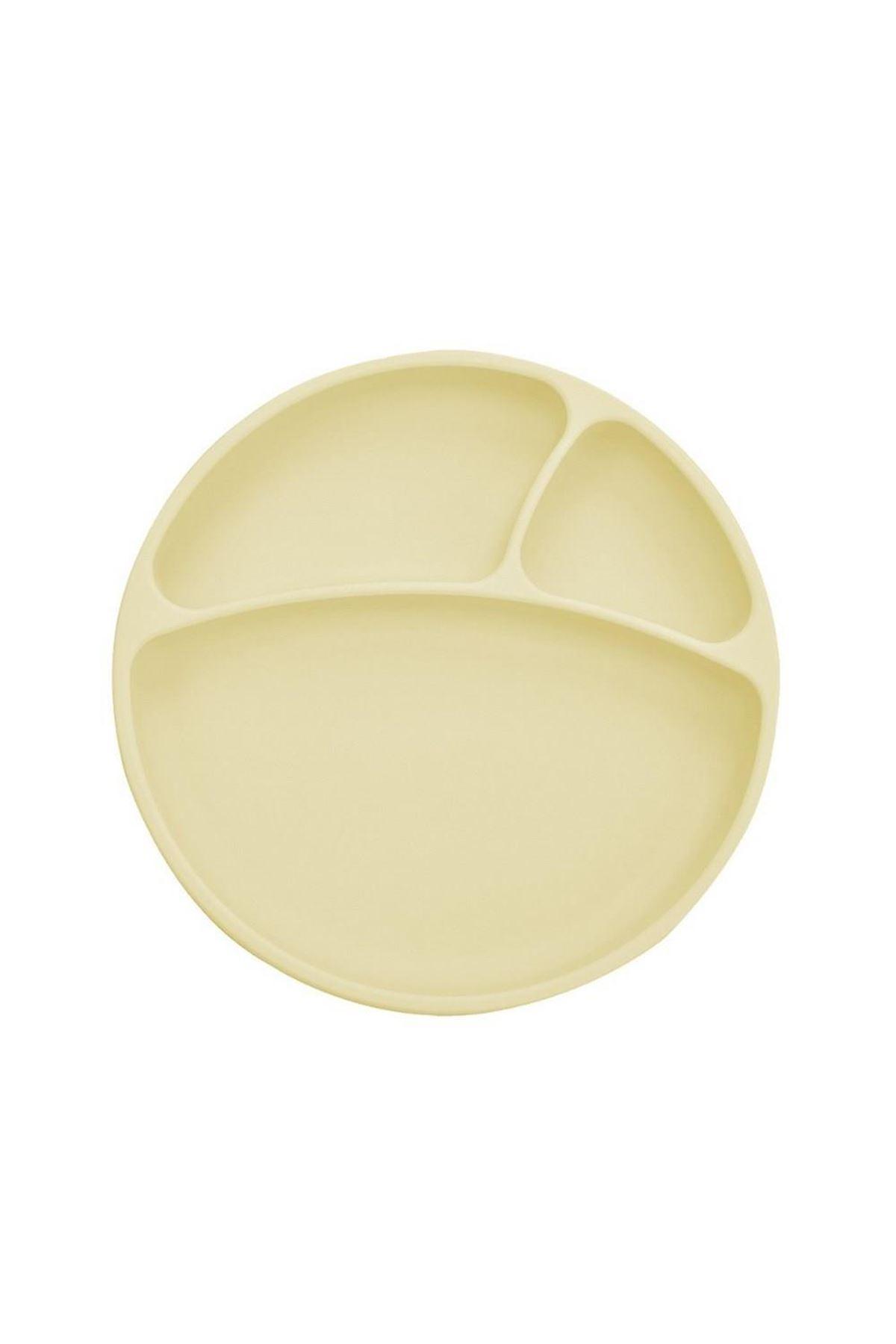 OiOi Porsiyon Vakum Tabanlı Silikon Tabak Sarı