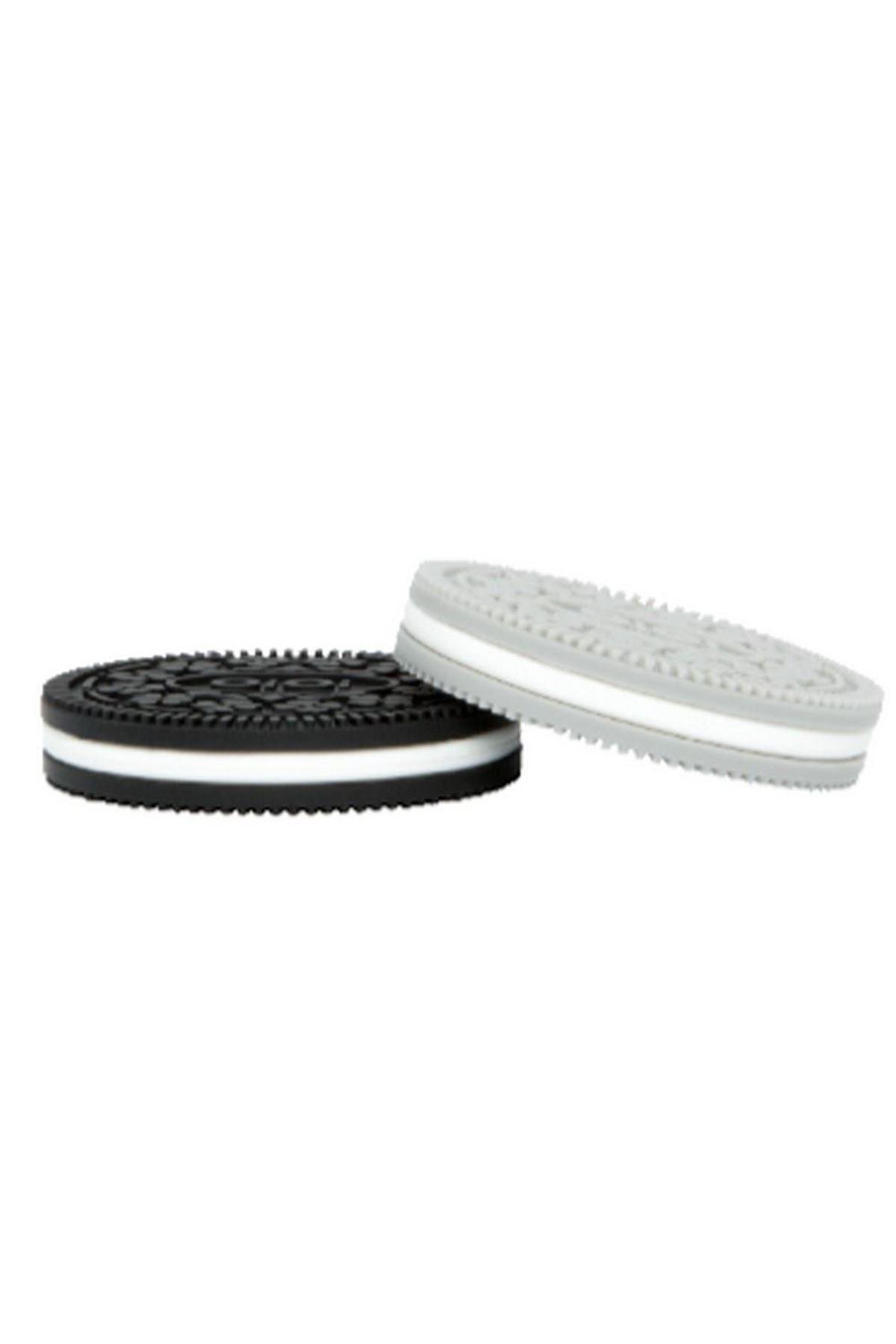 OiOi Kuki Diş Kaşıyıcı 2li Siyah Gri