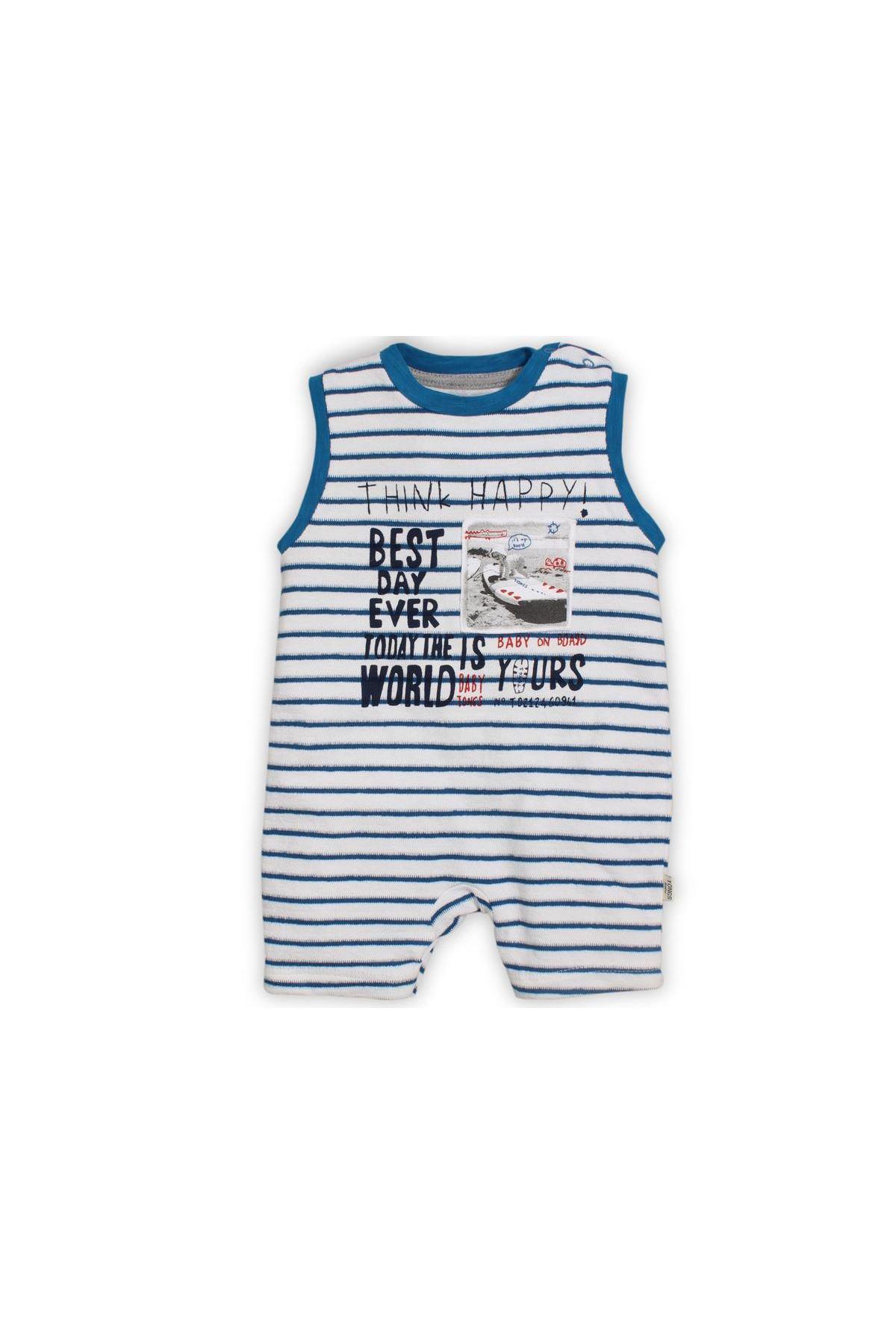 Tongs Baby On Board Kısa Tulum 2582 Mavi