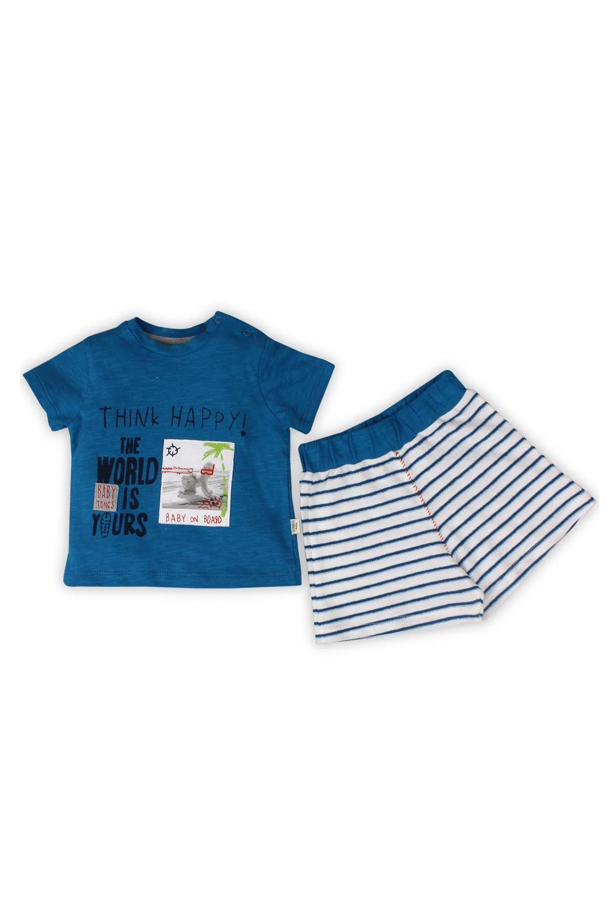 Tongs Baby On Board Şortlu 2li Takım 2583 Mavi
