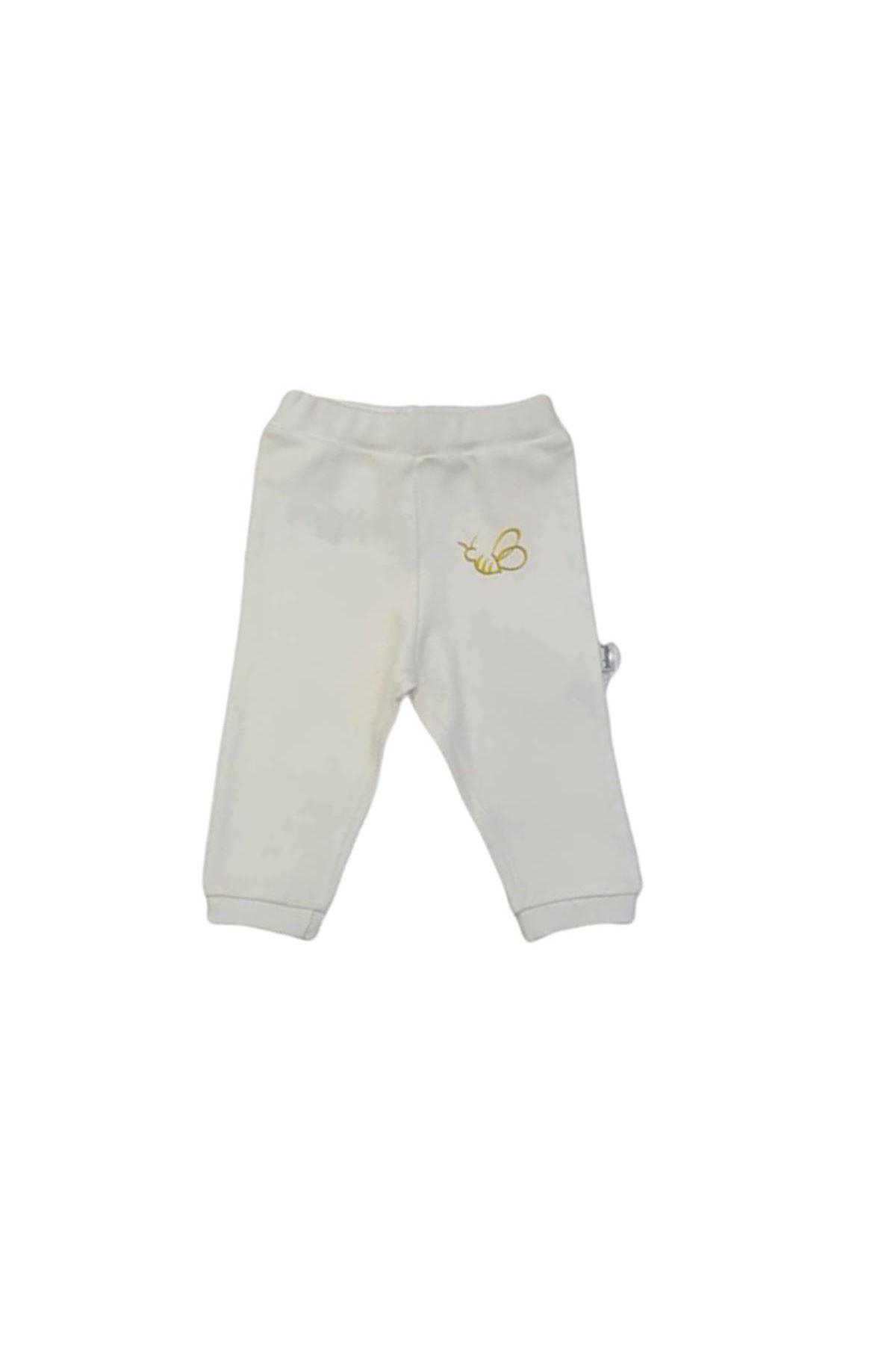 Bebengo Basıc Arılı Patiksiz Tek Alt Pantolon 4012 Beyaz