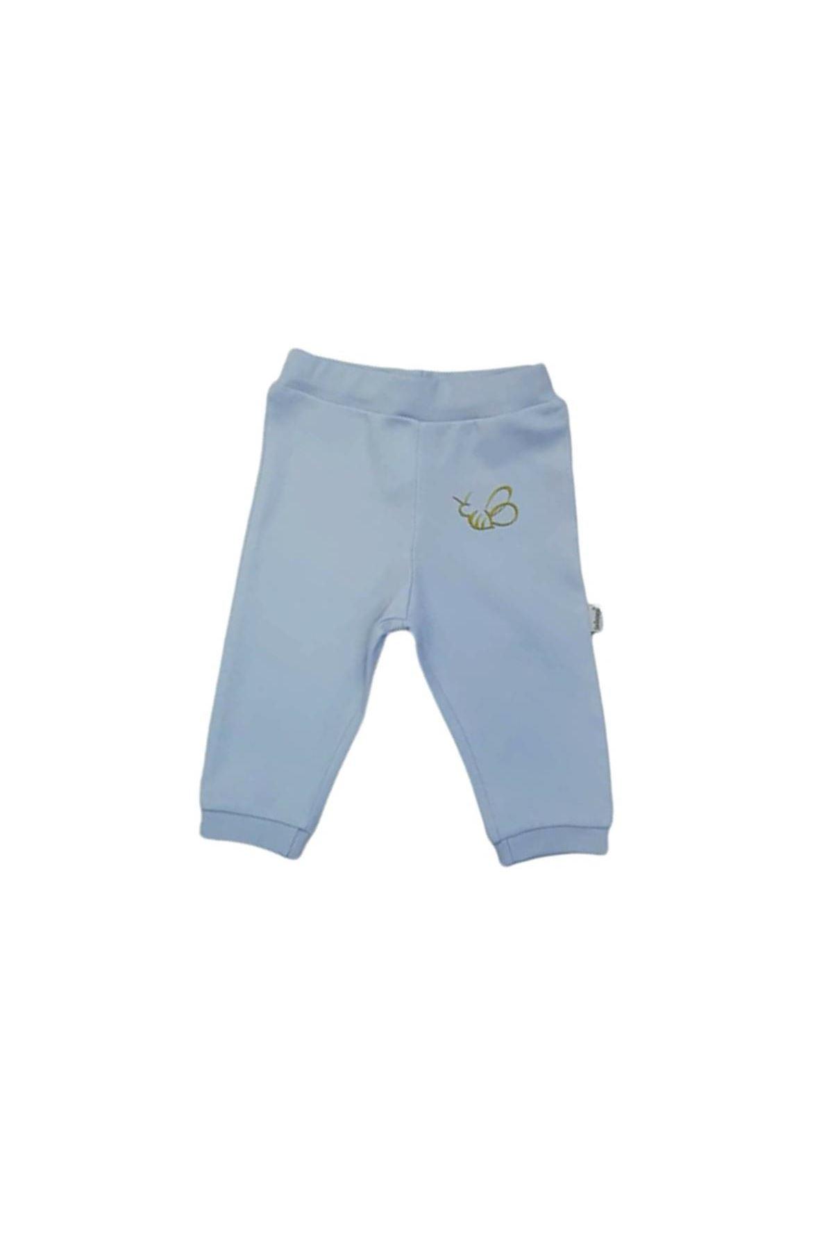 Bebengo Basıc Arılı Patiksiz Tek Alt Pantolon 4012 Mavi