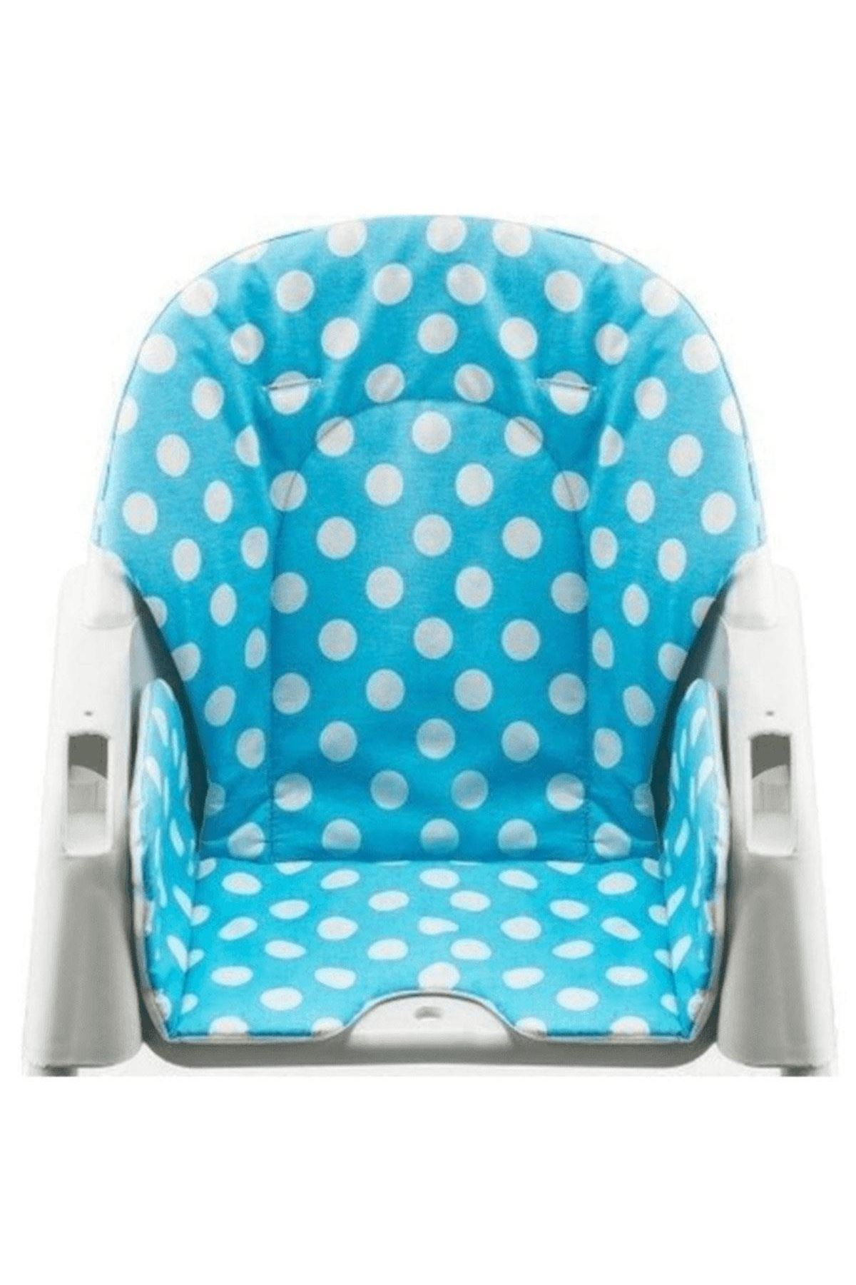 Moje Mama Sandalyesi Minderi Puanlı Mavi
