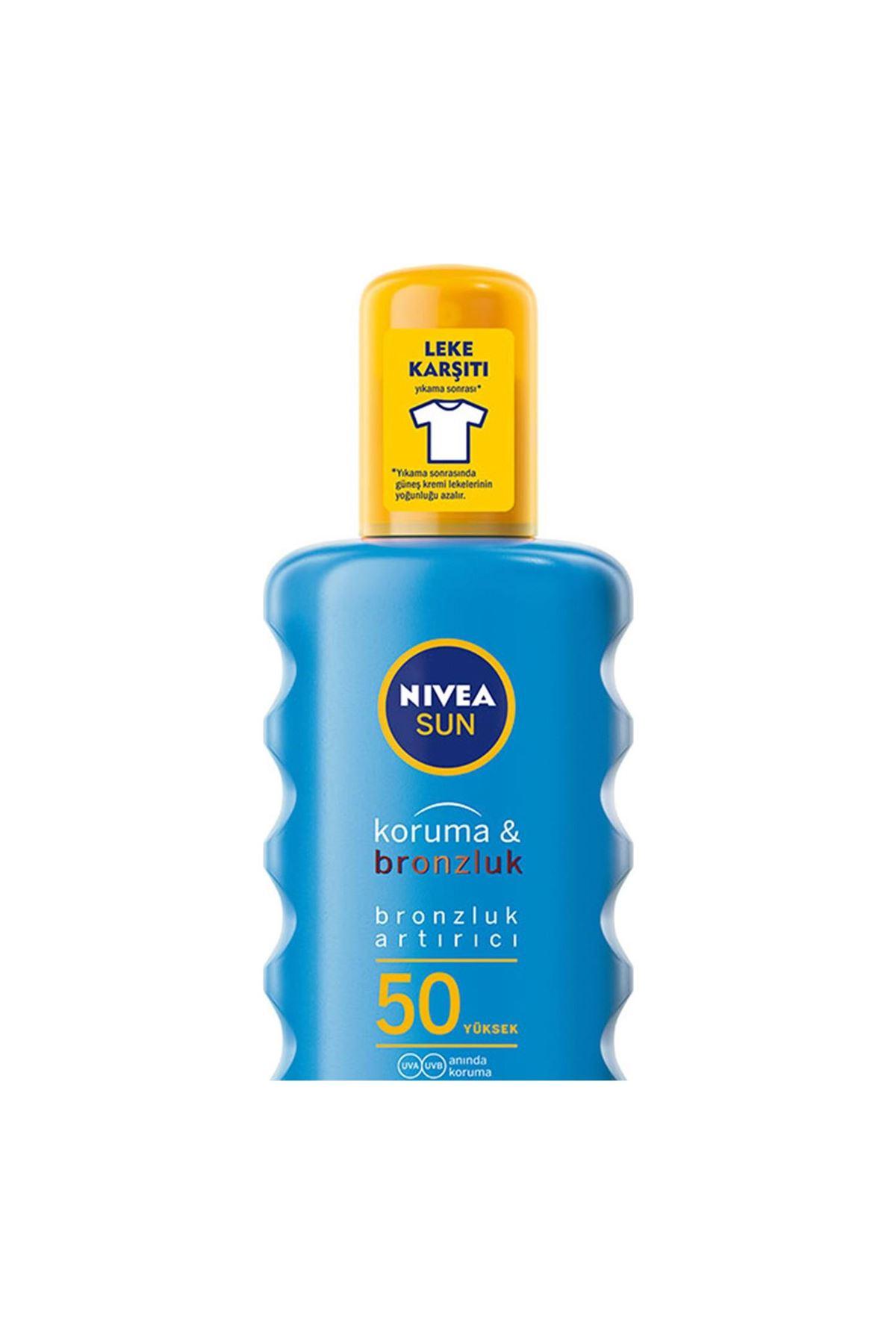 Nivea Sun Koruma Bronzluk Arttırıcı Güneş Spreyi Gkf50+ 200 ml