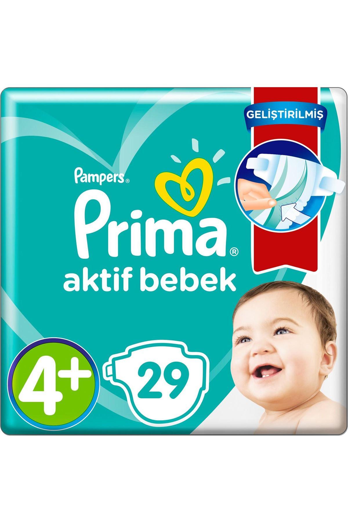 Prima Bebek Bezi Aktif Bebek Standart Paket 4+ Beden 29 Adet